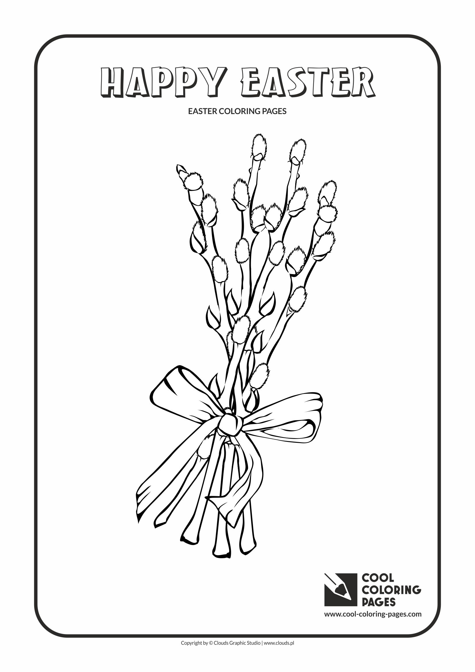 Cool Coloring Pages - Holidays / Easter palm / Coloring page with Easter palm