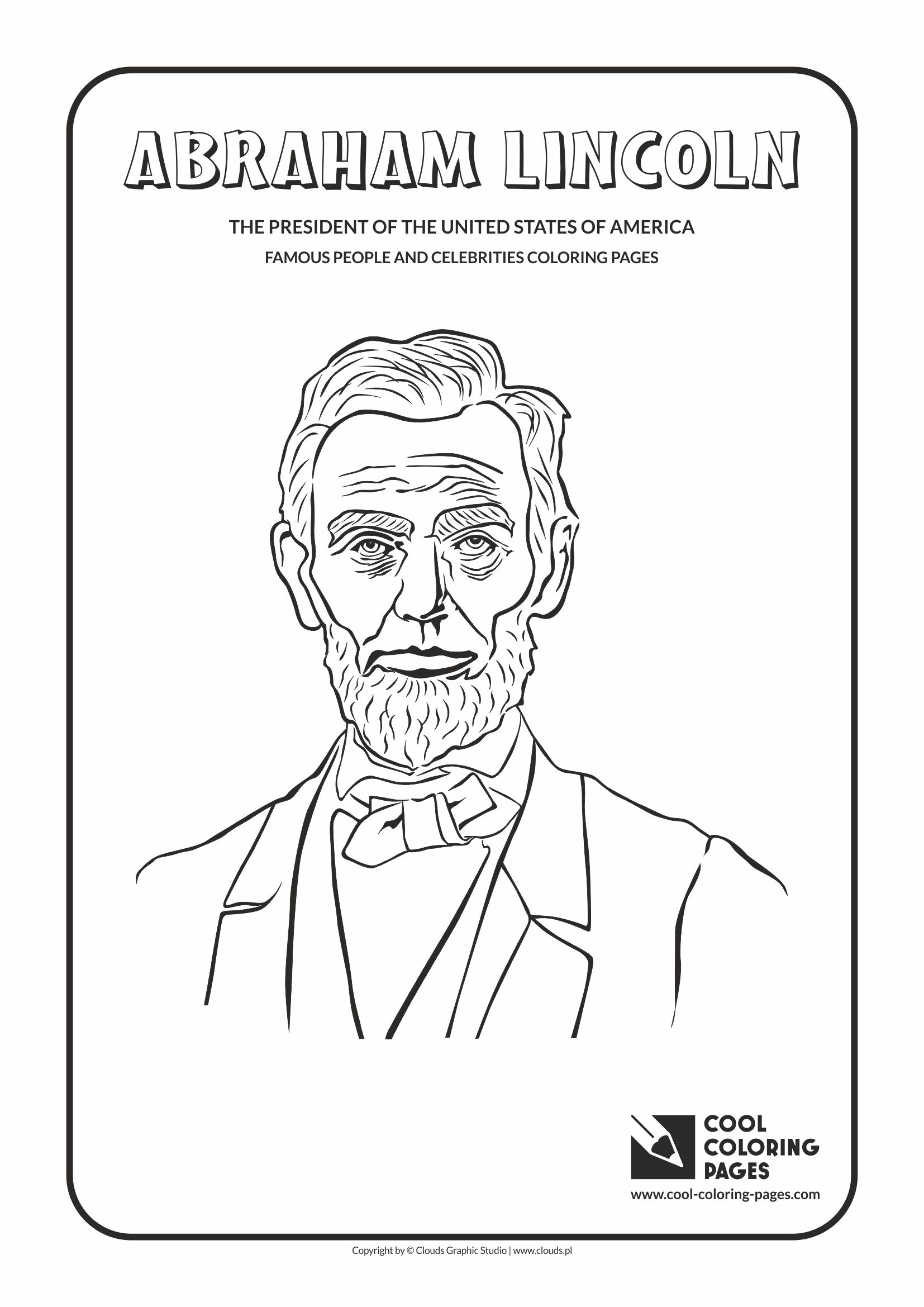 coloring pages abraham lincoln - cool coloring pages abraham lincoln coloring page cool coloring pages free educational