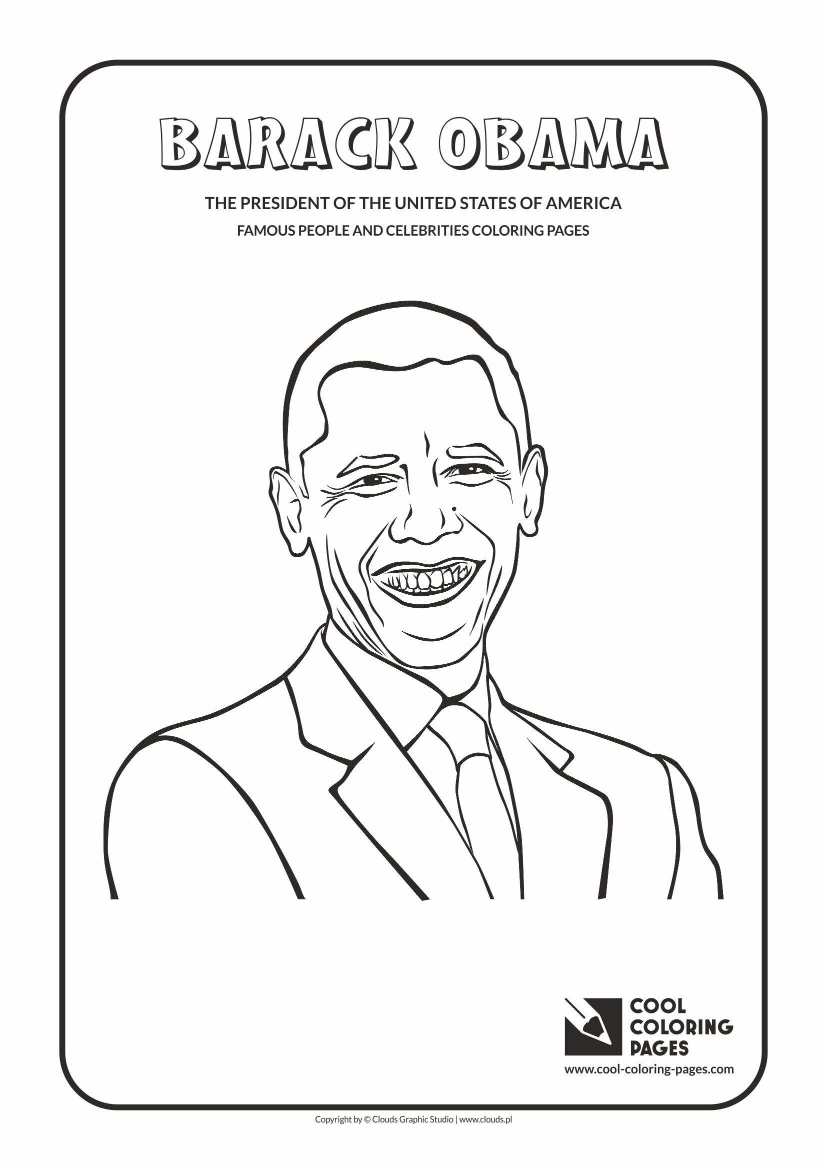 president obama coloring pages free - photo#12