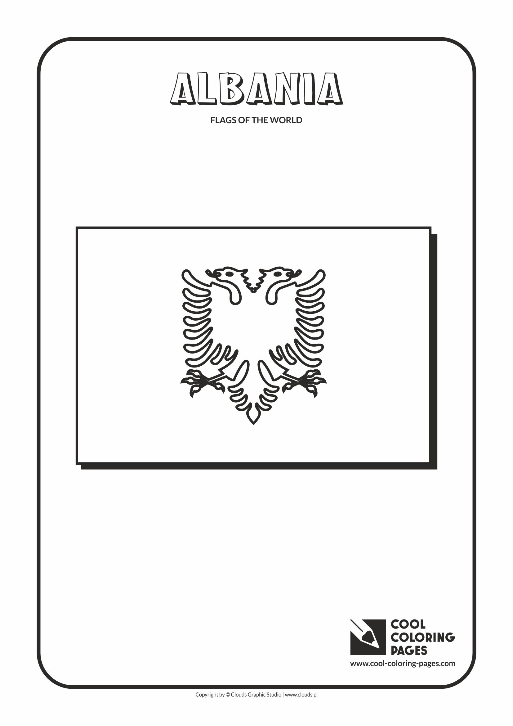 Cool Coloring Pages - Flags of the world / Albania flag
