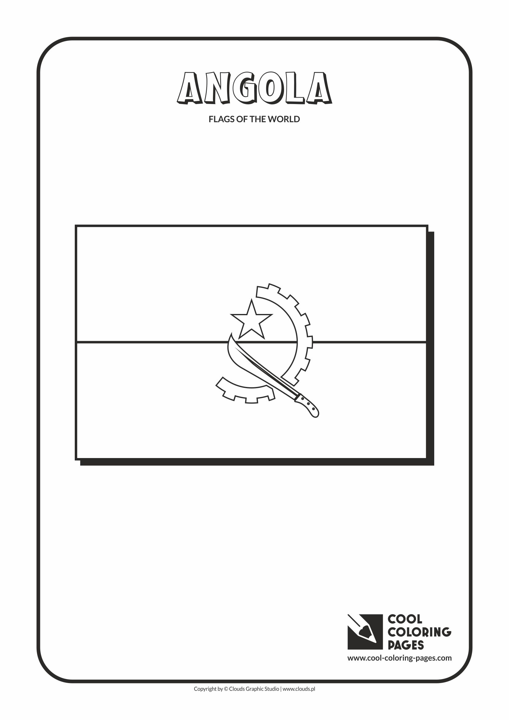 Cool Coloring Pages - Flags of the world / Angola flag
