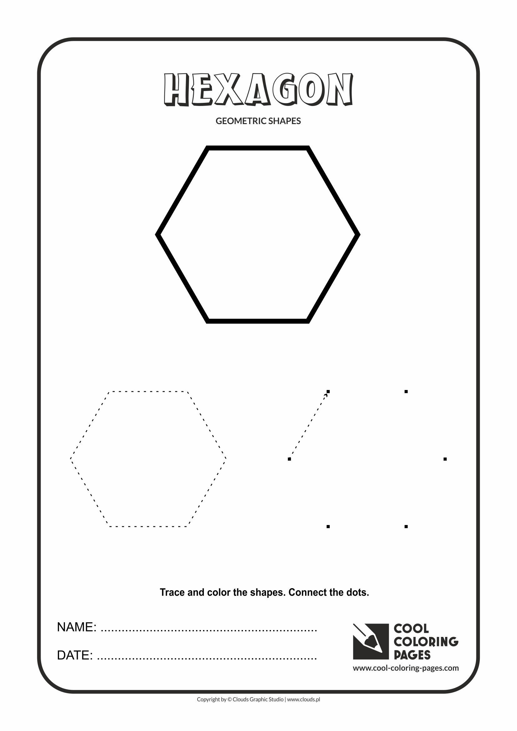 Cool Coloring Pages - Geometric shapes / Hexagon