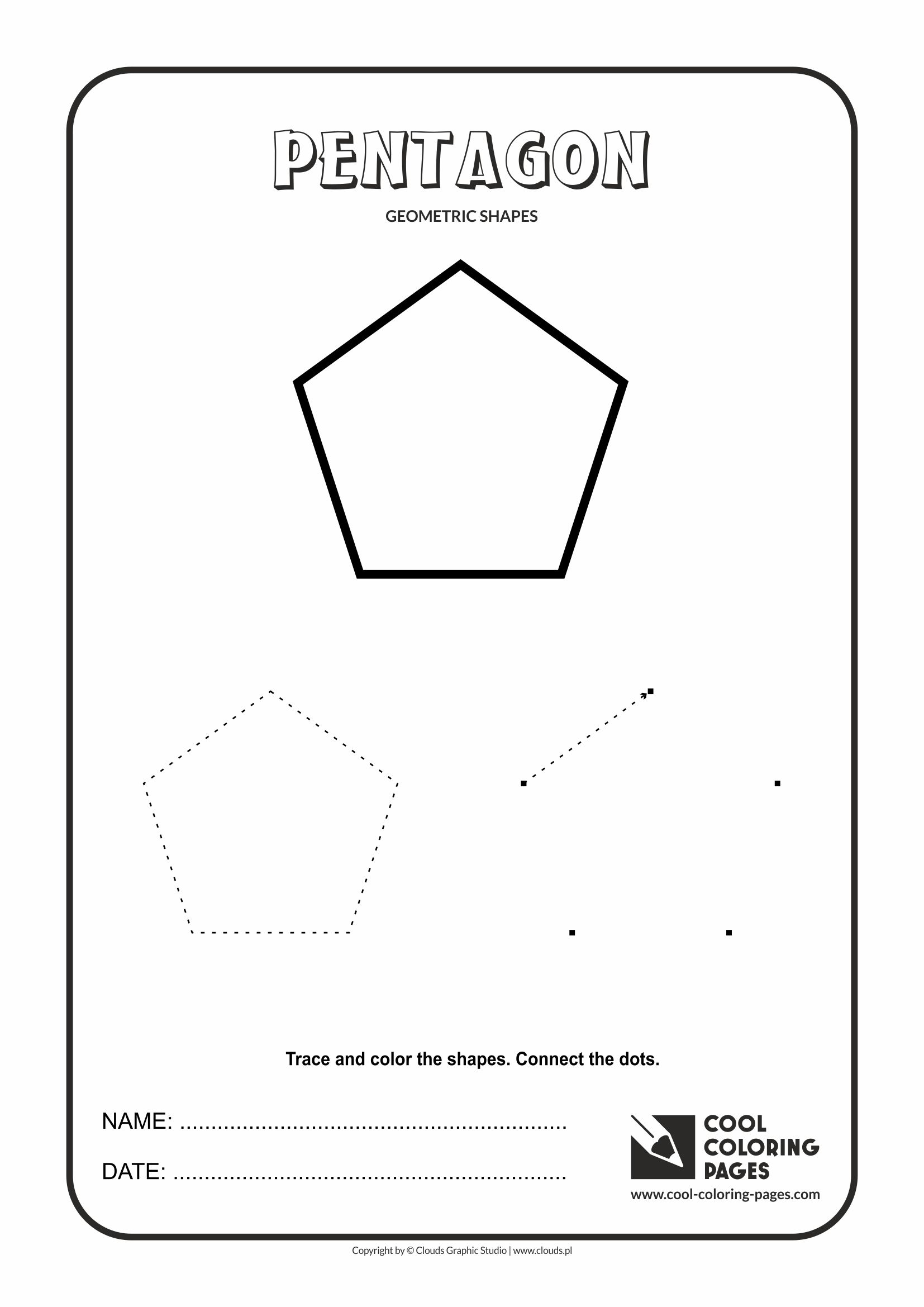 Cool Coloring Pages - Geometric shapes / Pentagon