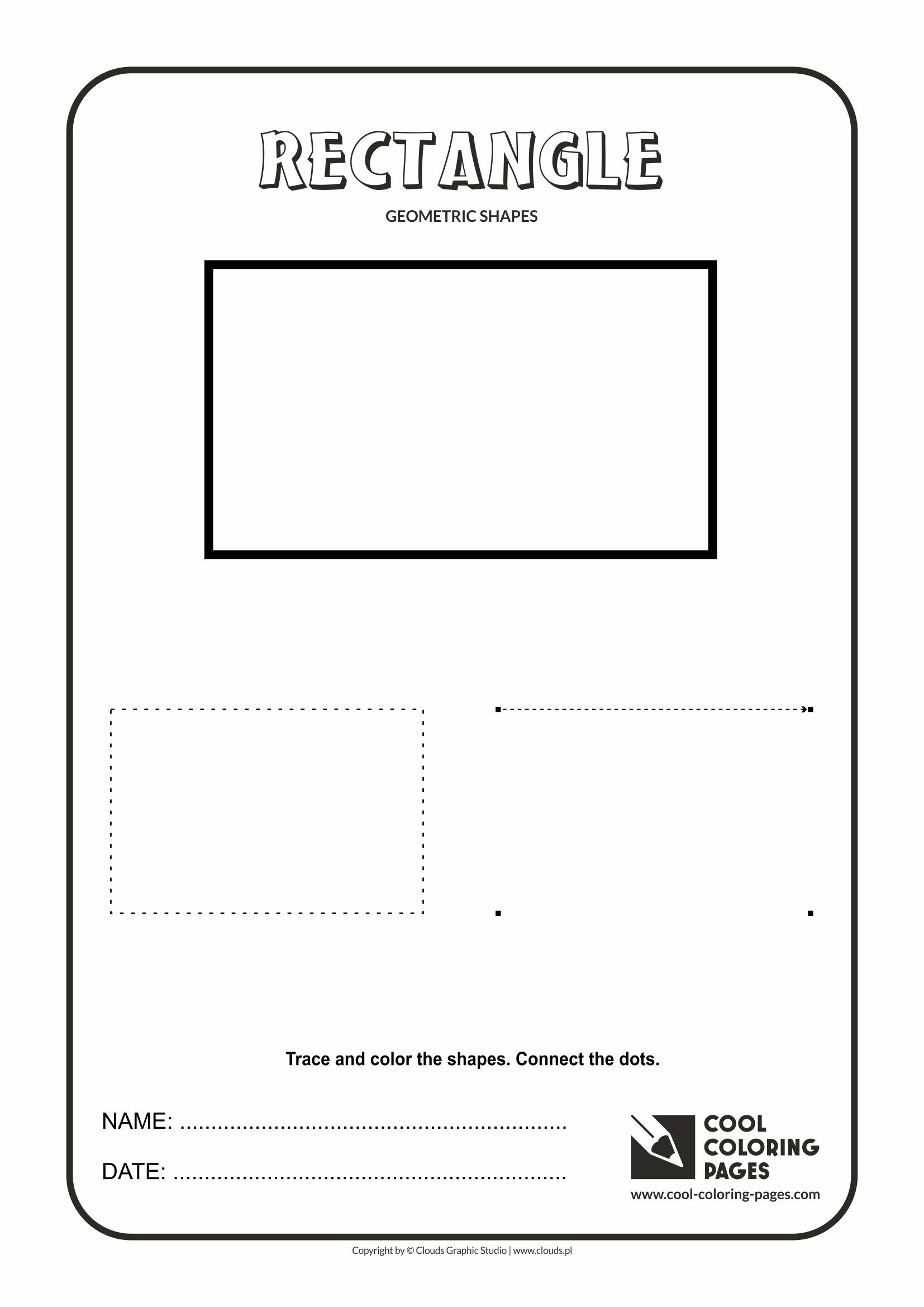 Cool Coloring Pages - Geometric shapes / Rectangle