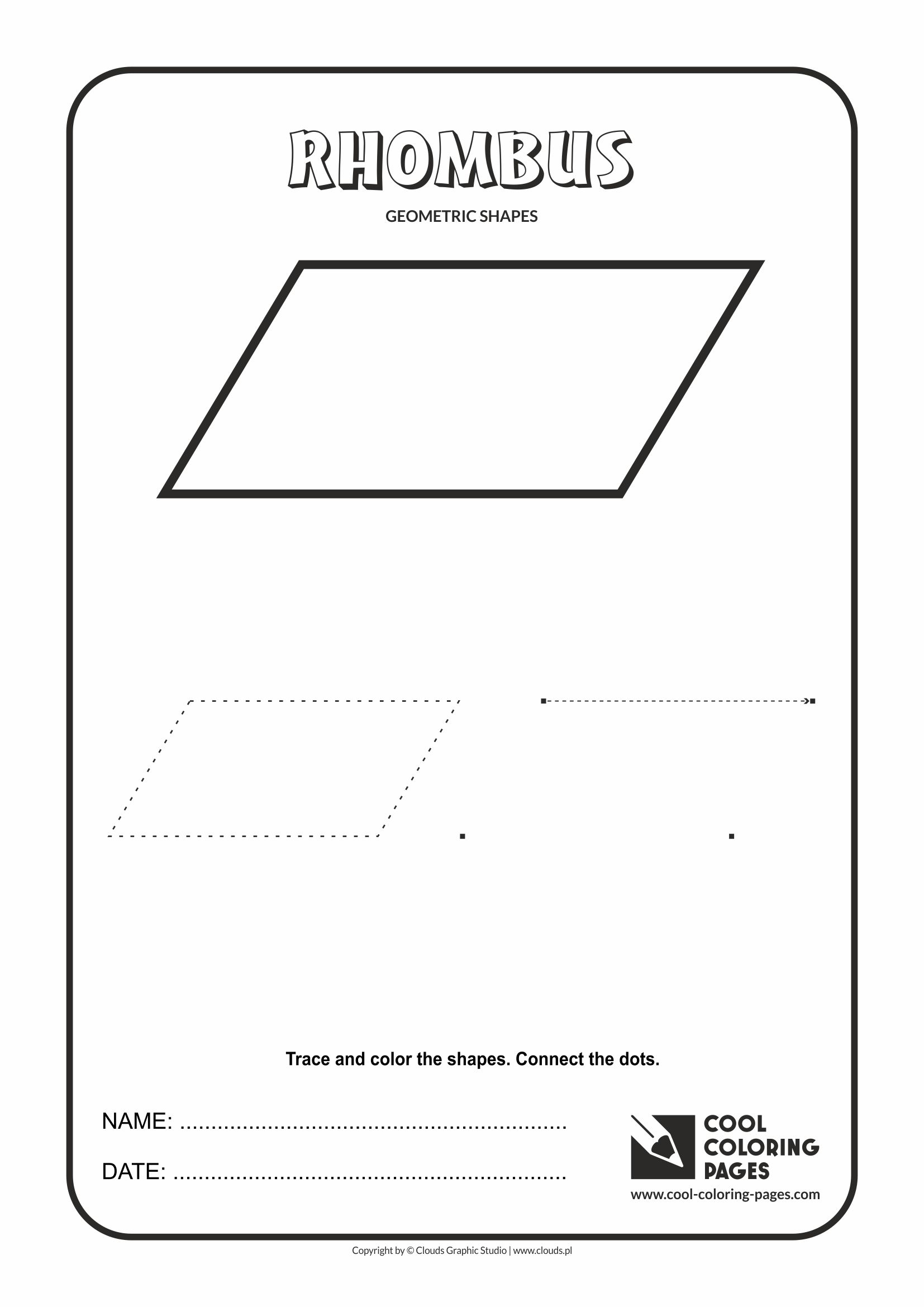 Cool Coloring Pages - Geometric shapes / Rhombus
