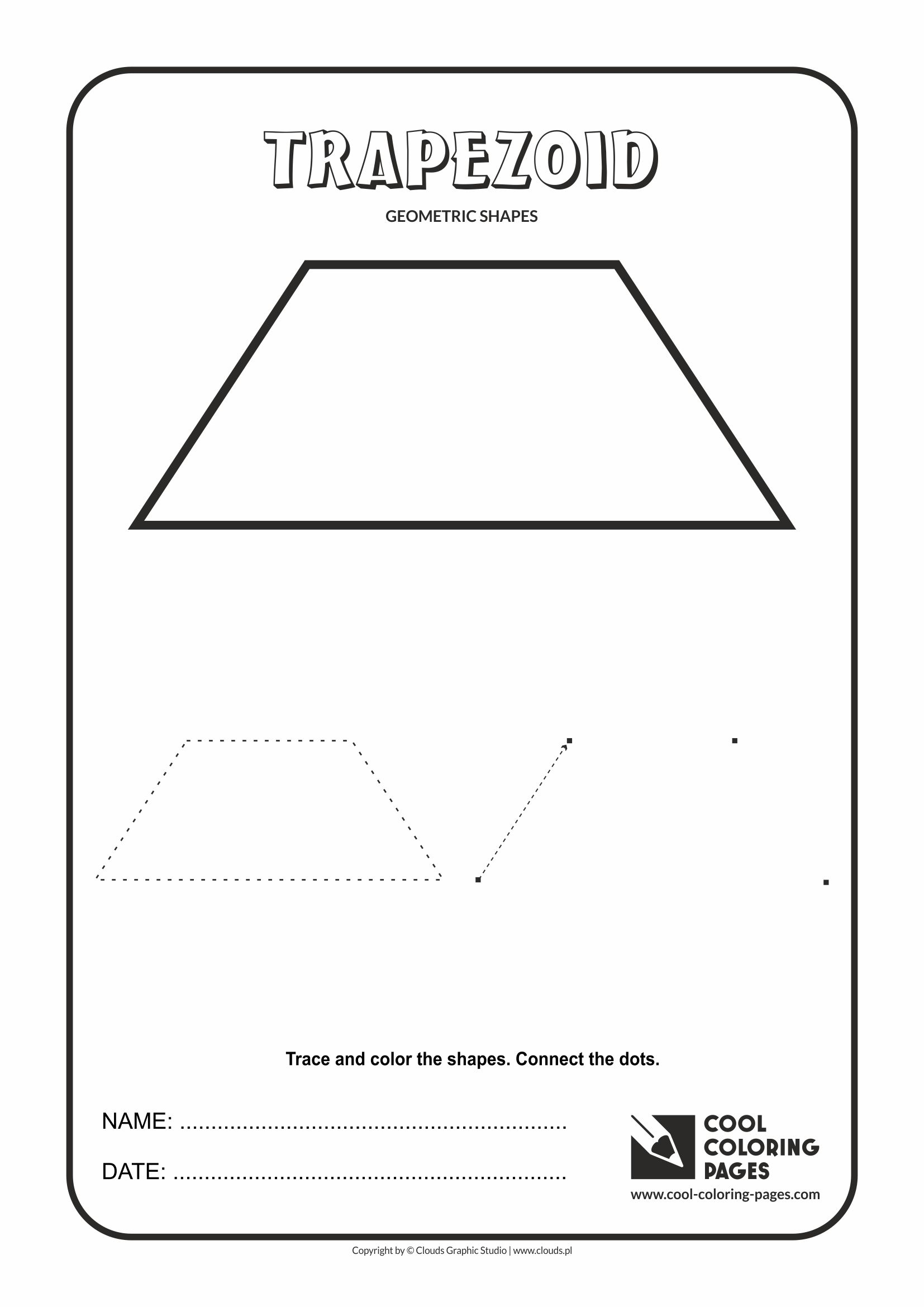 Cool Coloring Pages - Geometric shapes / Trapezoid