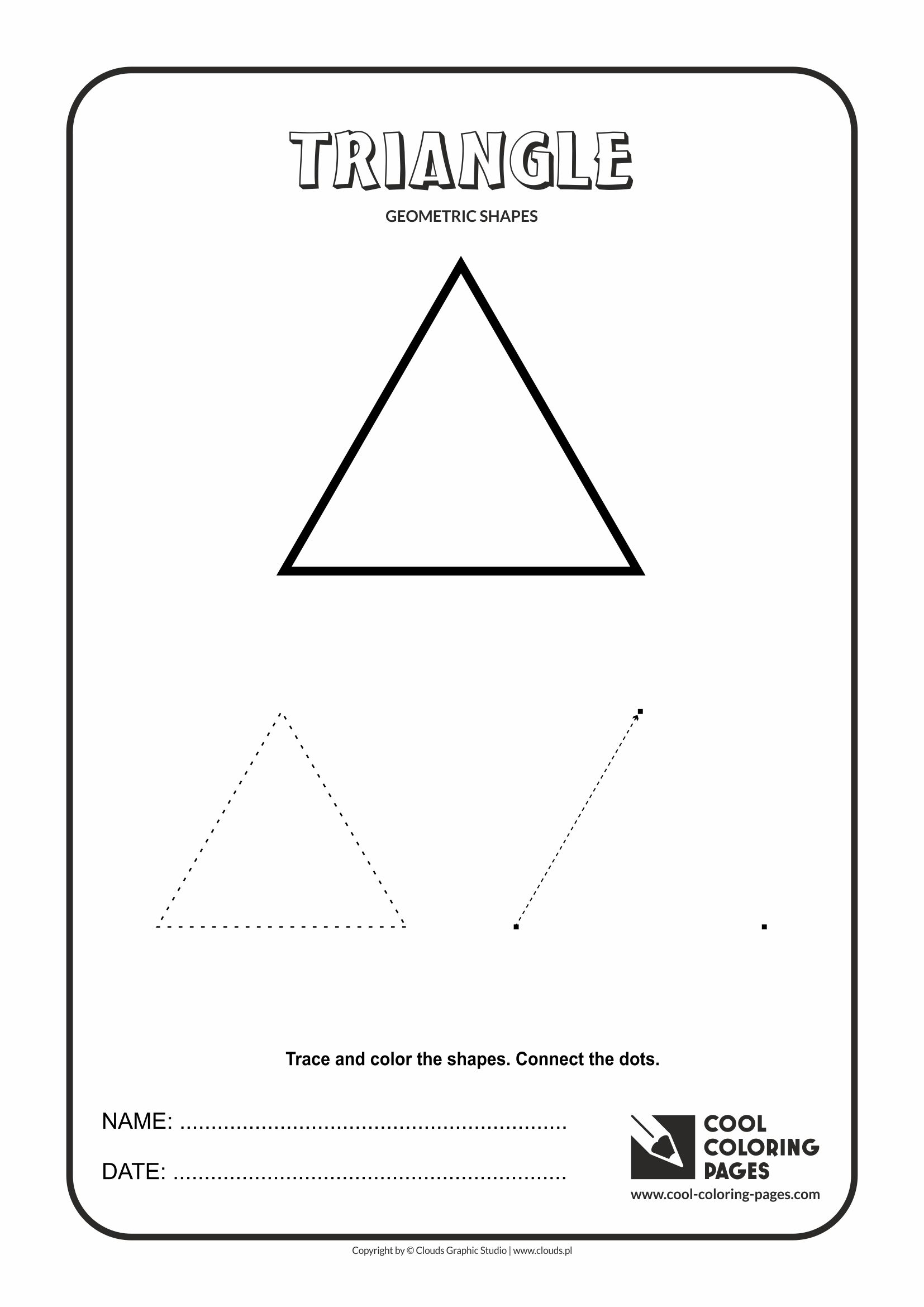 Cool Coloring Pages - Geometric shapes / Triangle