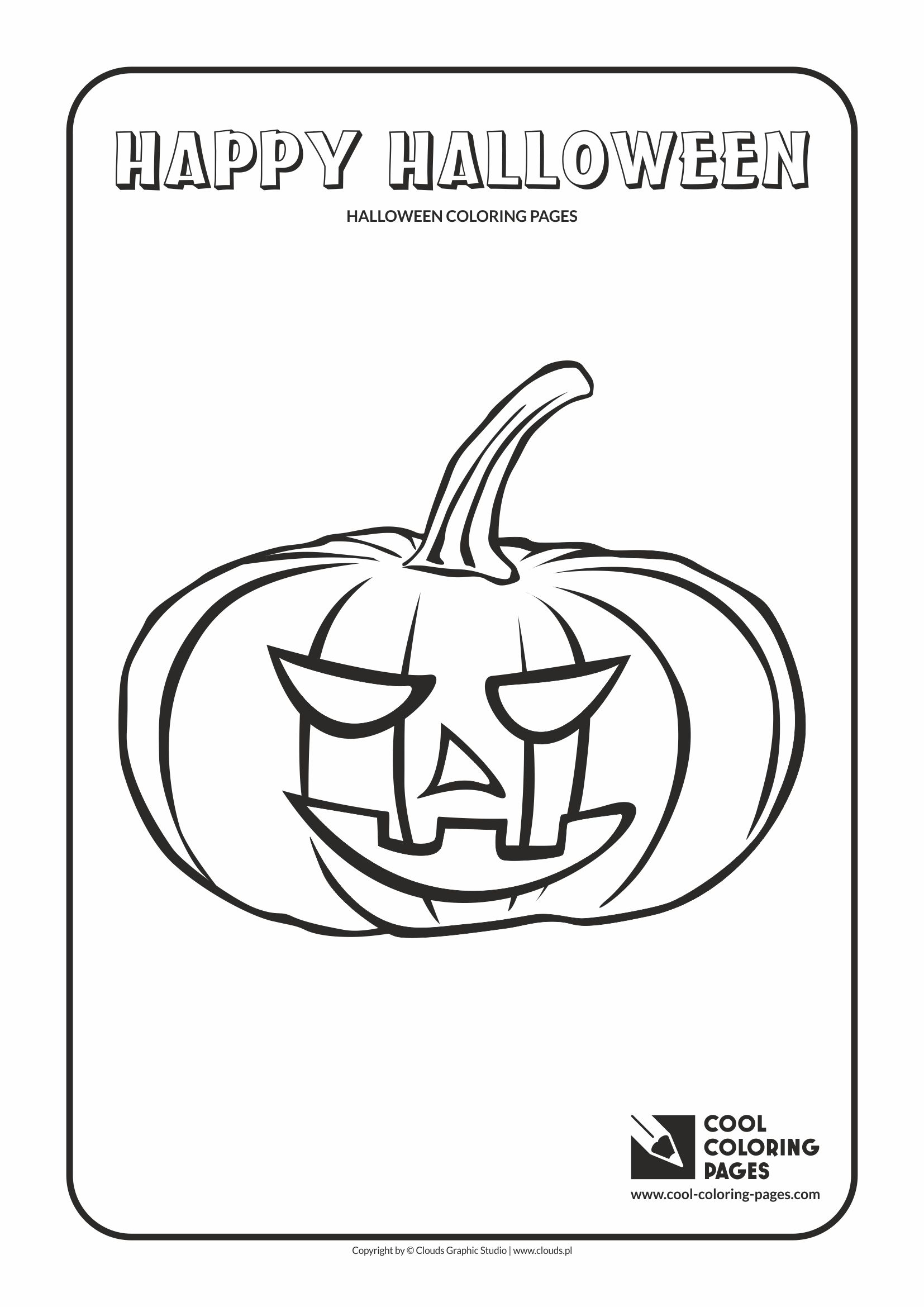 Cool Coloring Pages Halloween pumpkin no 1 coloring page - Cool ...