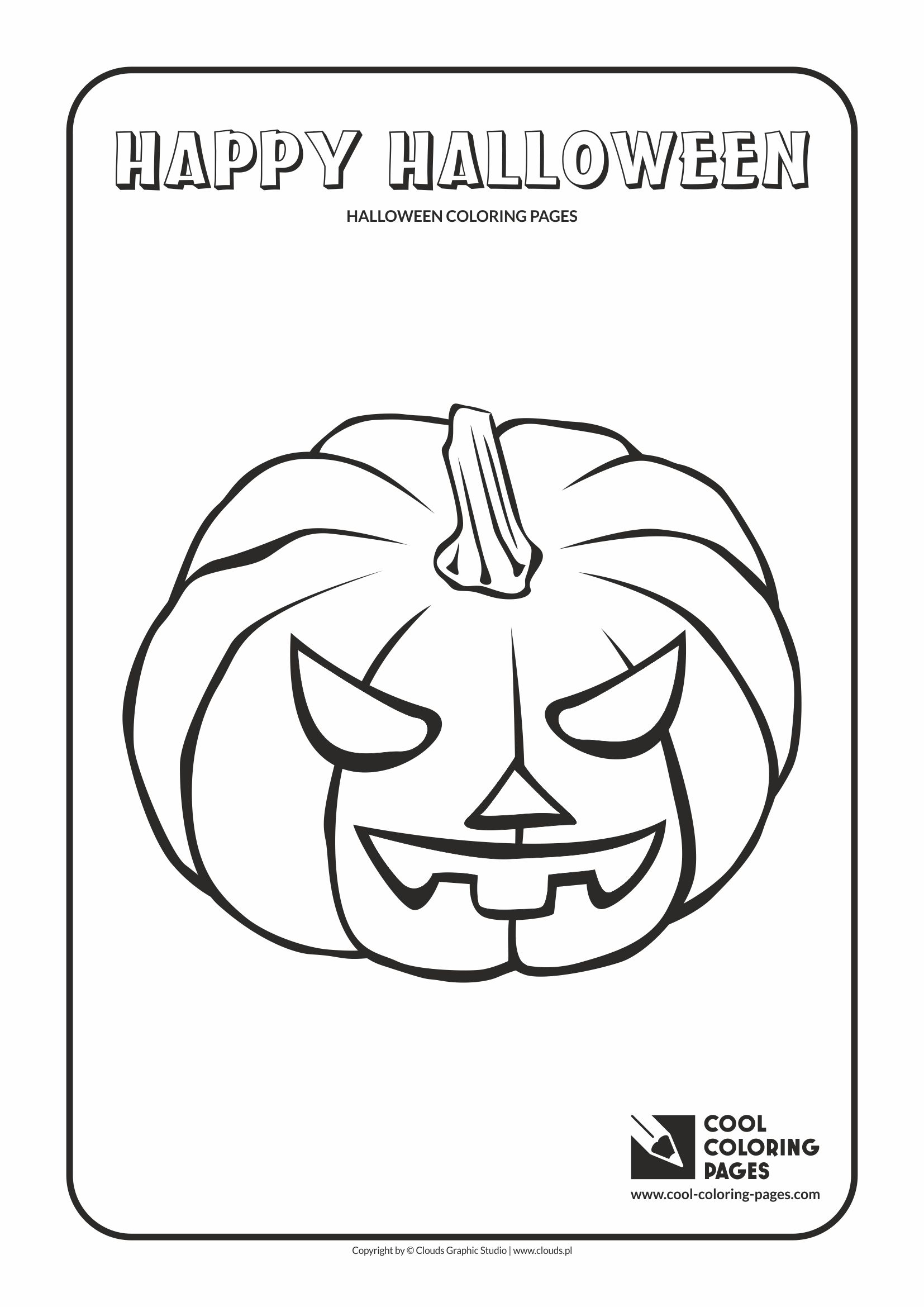 Cool Coloring Pages - Holidays / Halloween pumpkin no 3 / Coloring page with Halloween pumpkin no 3