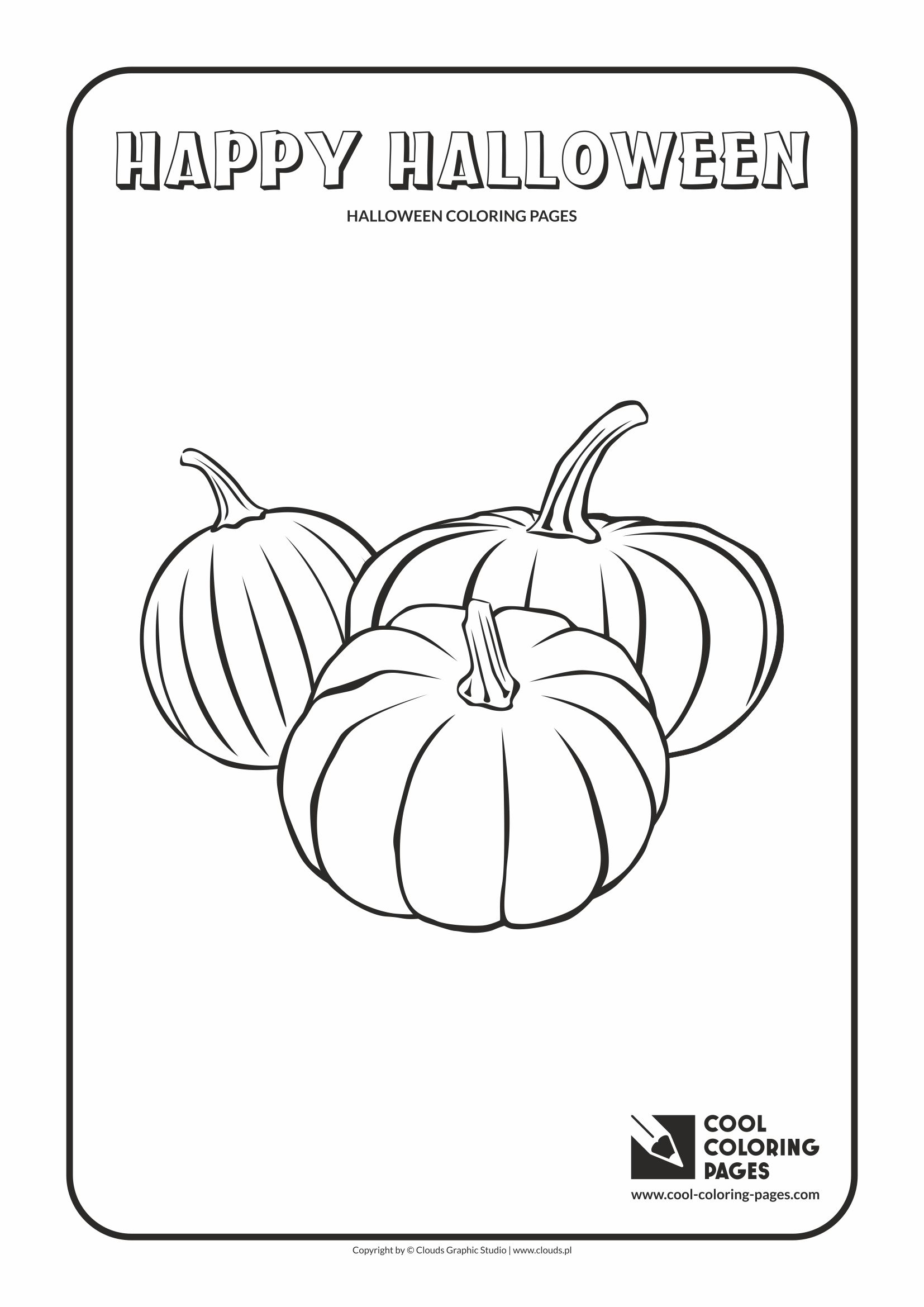 Cool Coloring Pages - Holidays / Halloween pumpkins / Coloring page with Halloween pumpkins