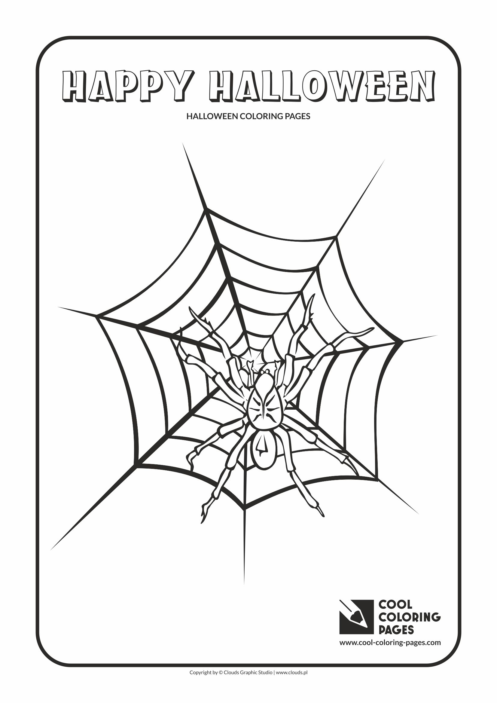 cool coloring pages holidays halloween spider coloring page with halloween spider - Cool Color Pages