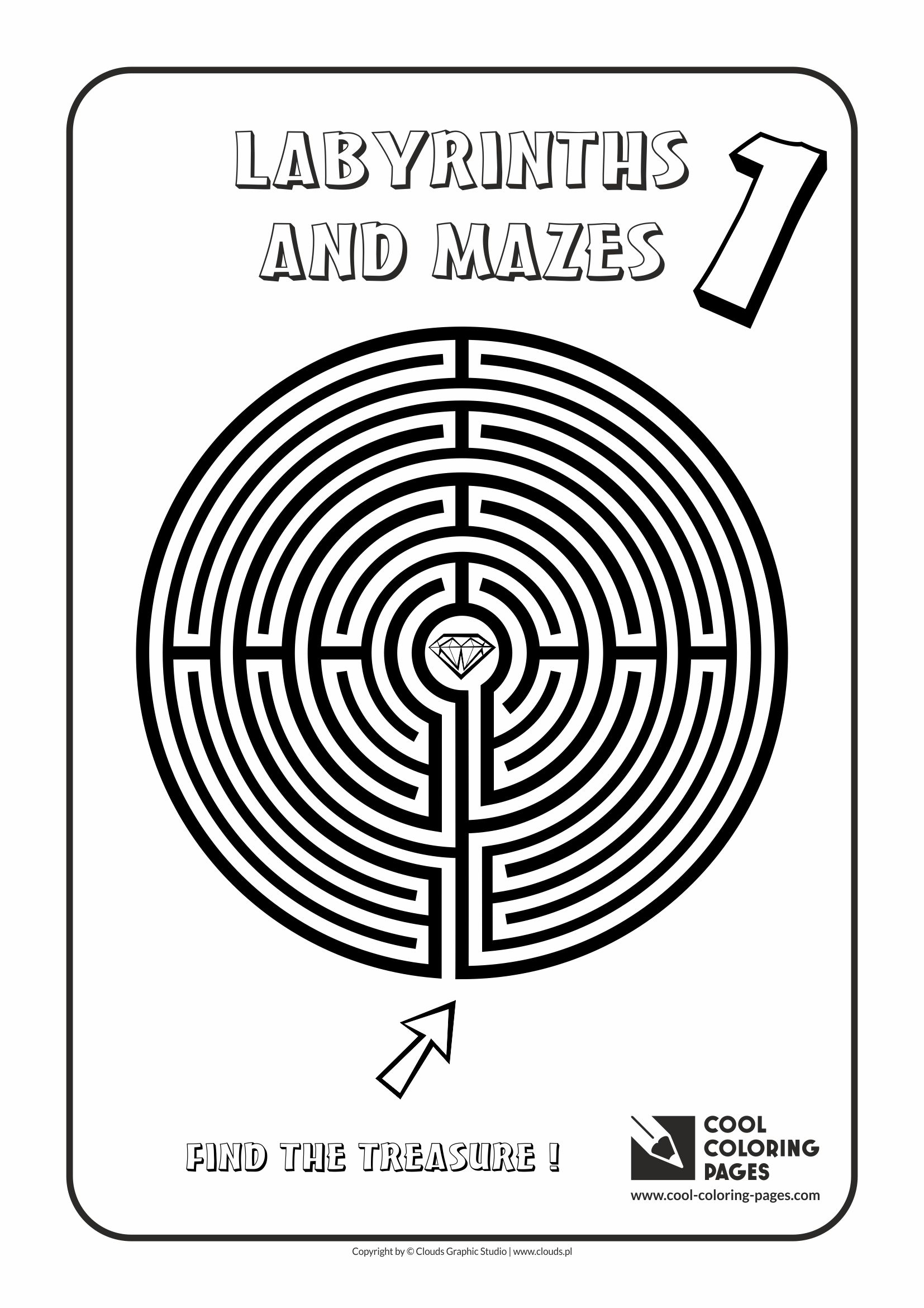 Cool Coloring Pages - Labyrinths and mazes / Maze no 1