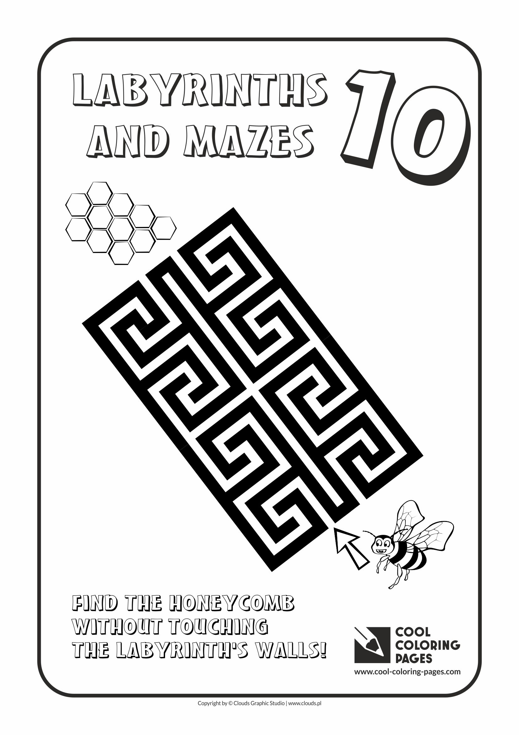 Cool Coloring Pages - Labyrinths and mazes / Maze no 10
