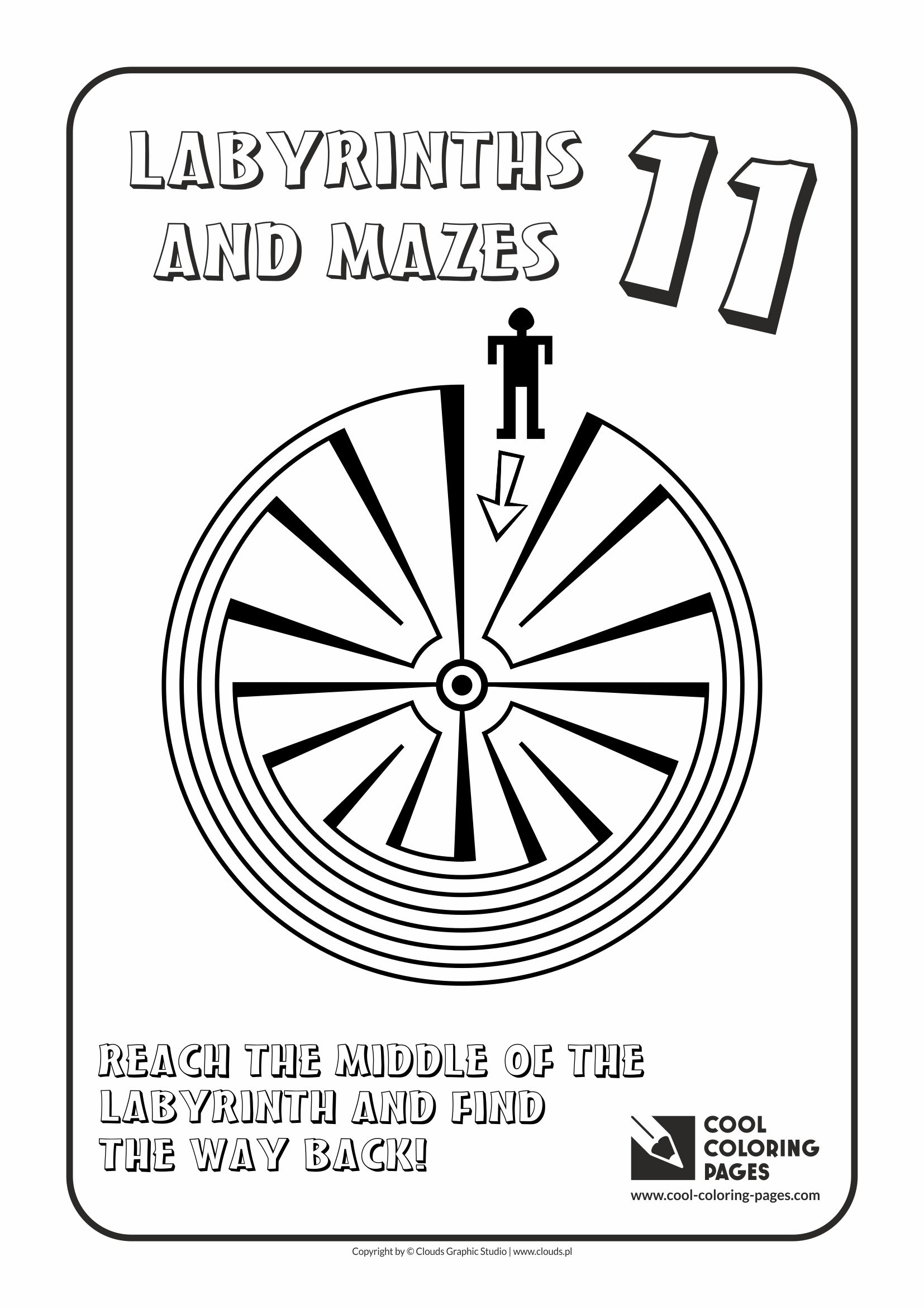 Cool Coloring Pages - Labyrinths and mazes / Maze no 11