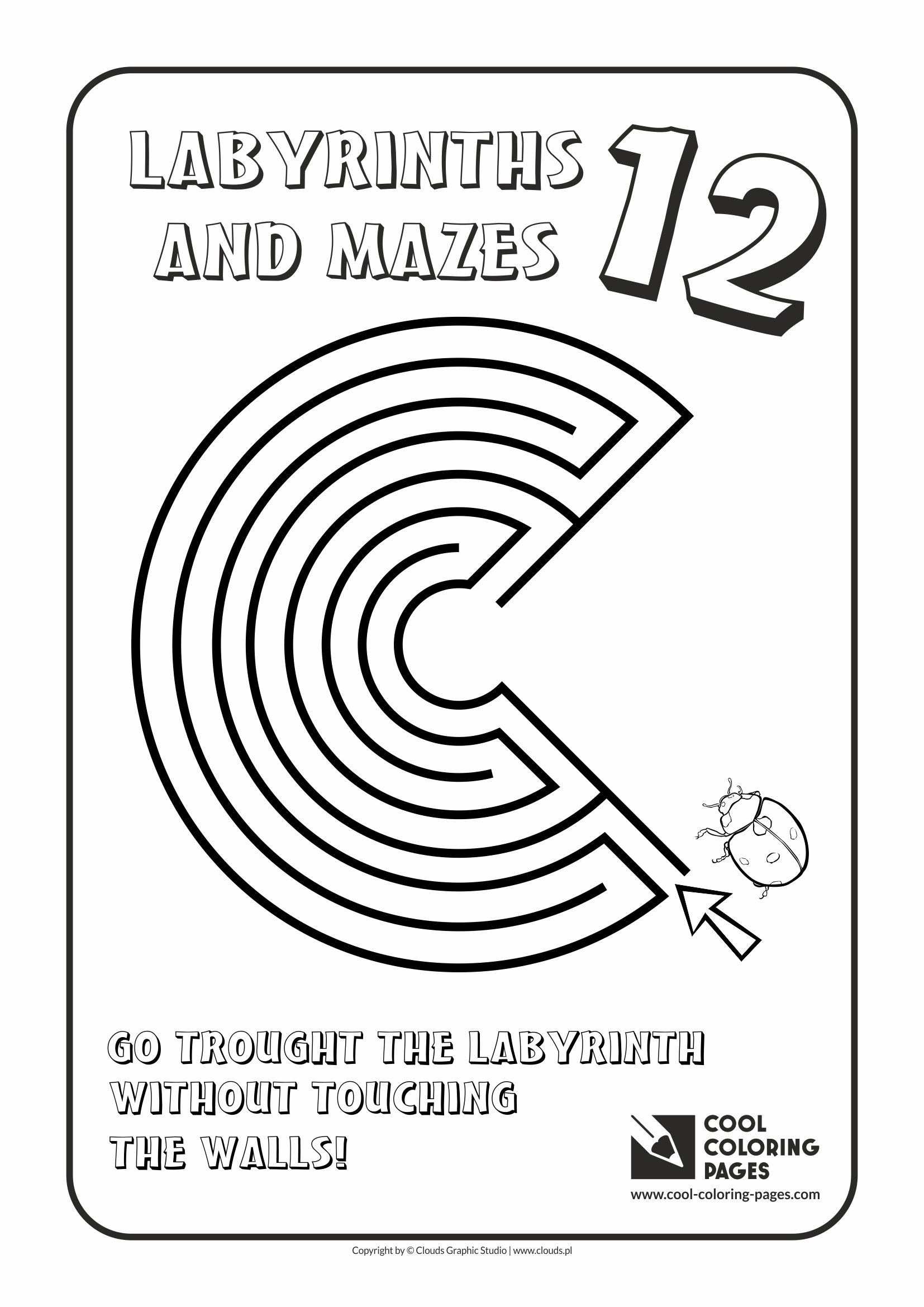 Cool Coloring Pages - Labyrinths and mazes / Maze no 12