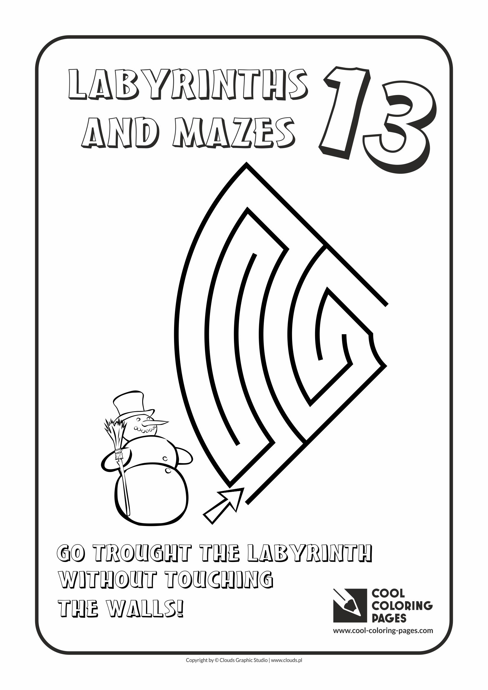 Cool Coloring Pages - Labyrinths and mazes / Maze no 13