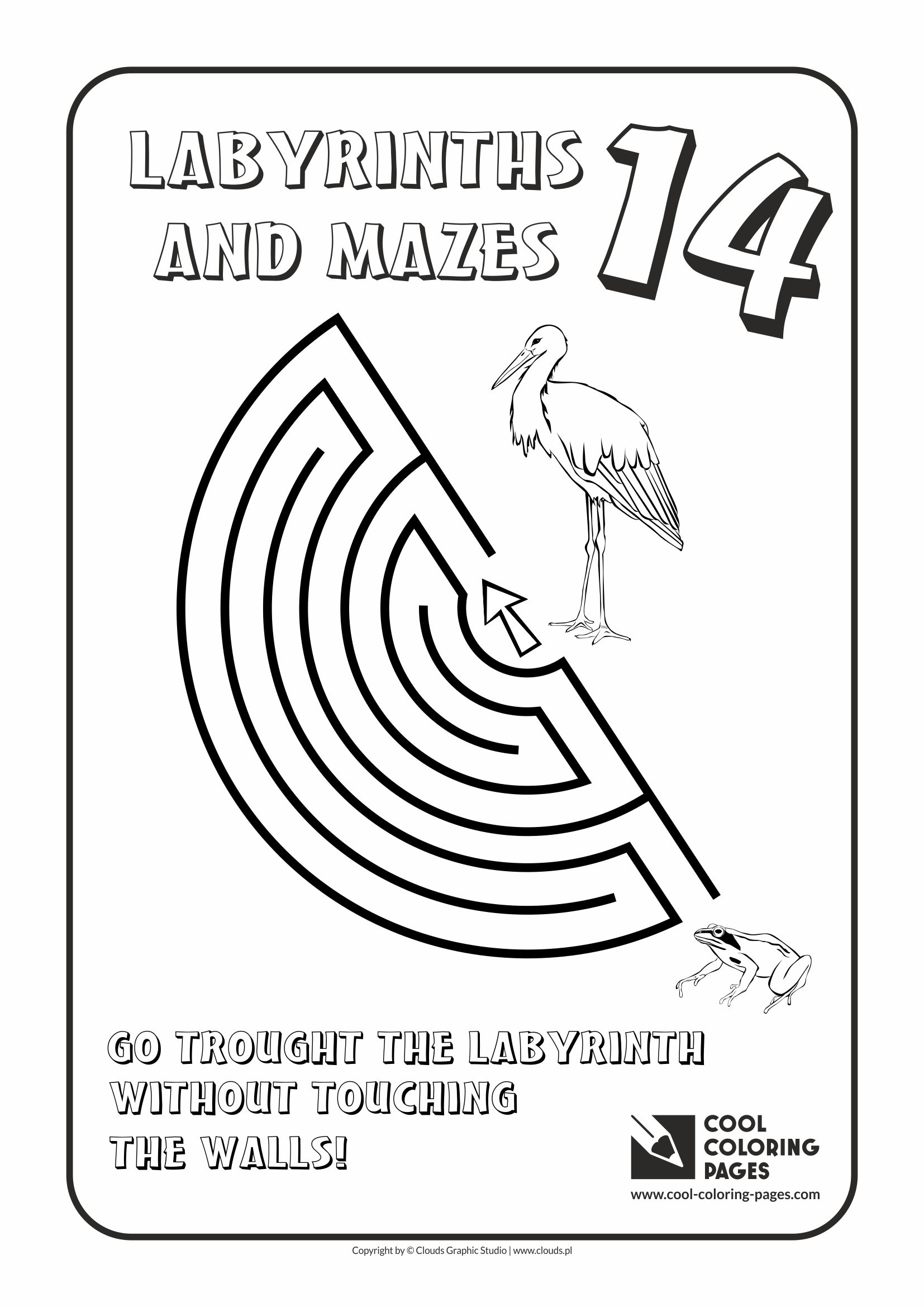Cool Coloring Pages - Labyrinths and mazes / Maze no 14