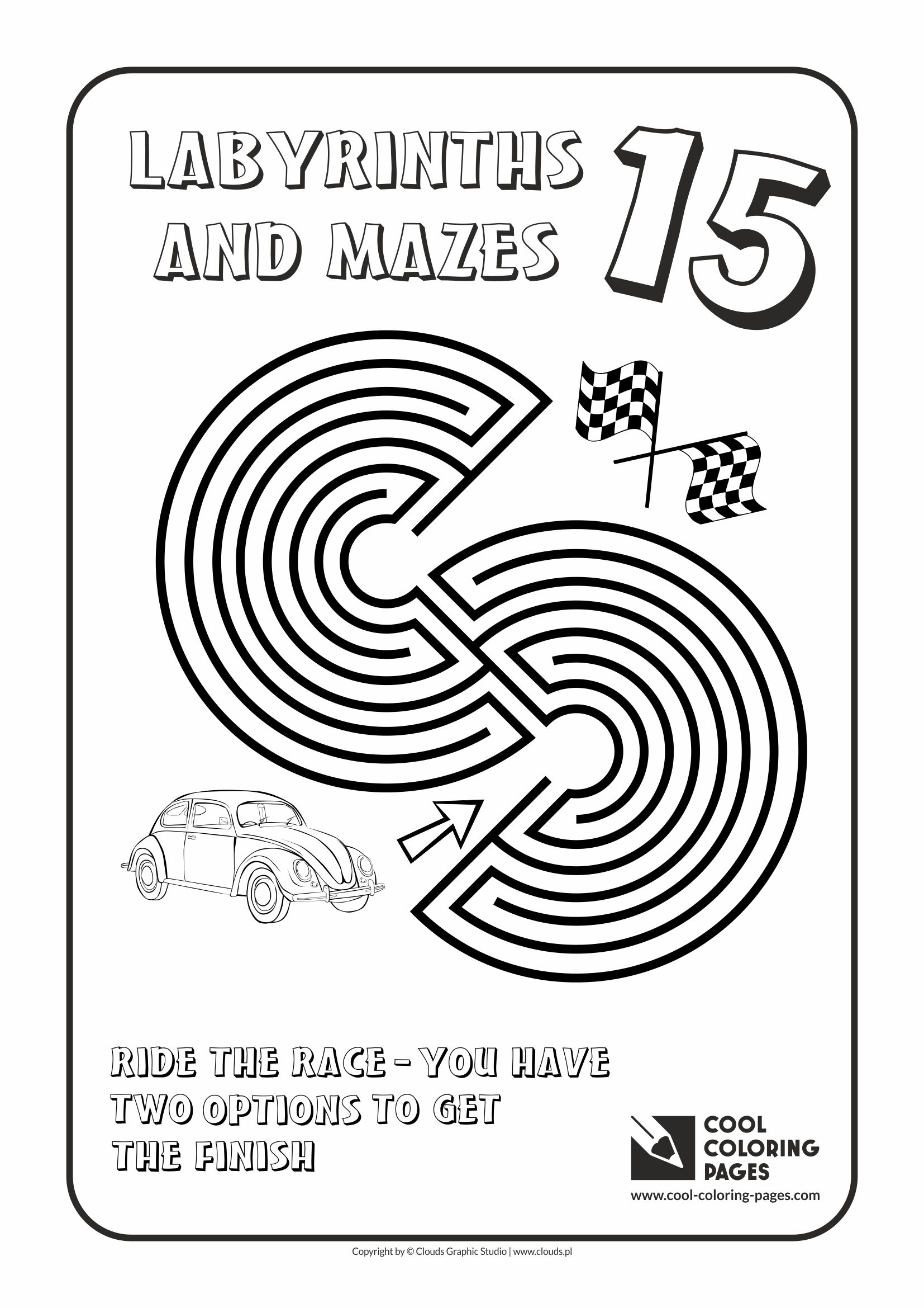 Cool Coloring Pages - Labyrinths and mazes / Maze no 15
