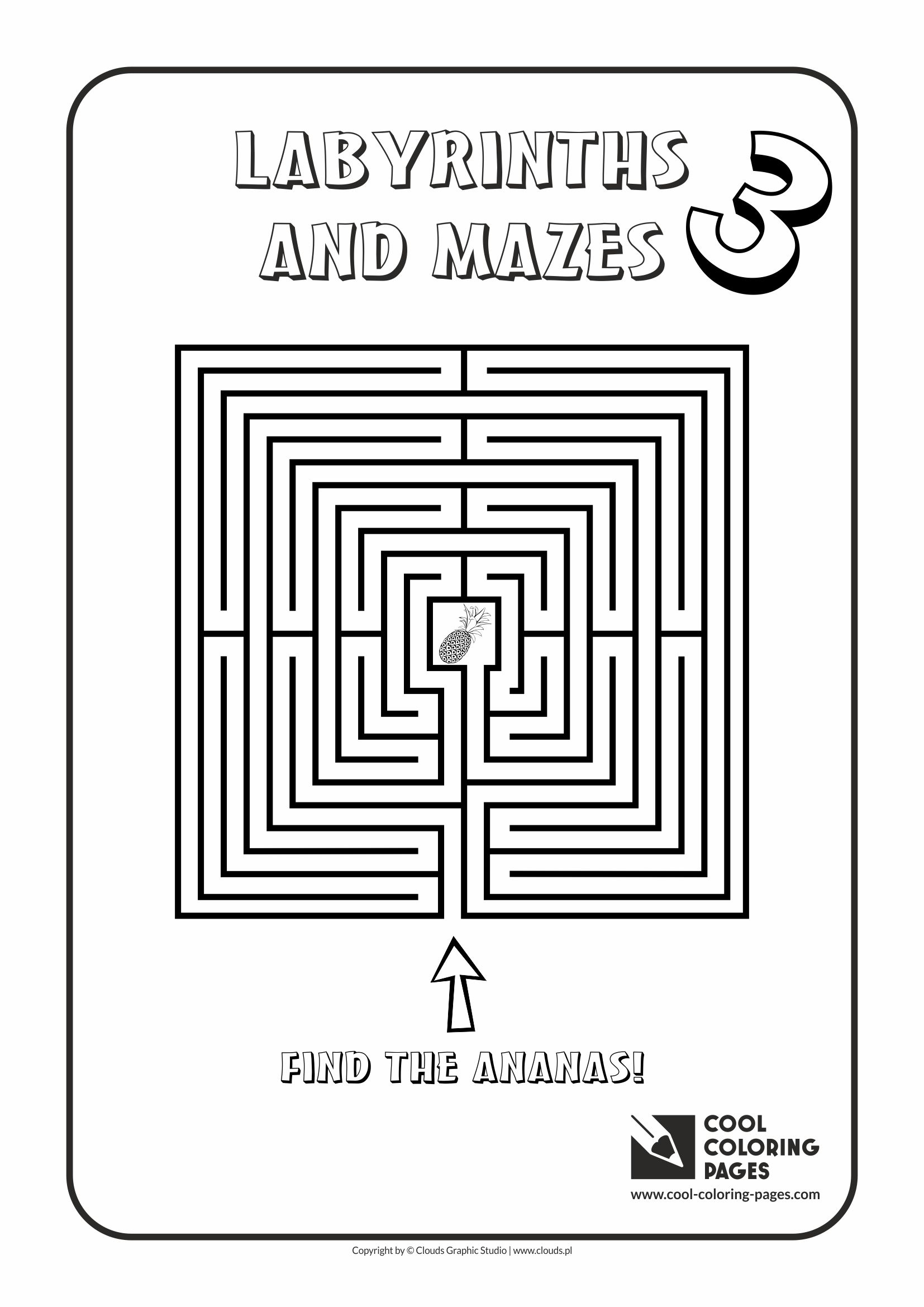 Cool Coloring Pages - Labyrinths and mazes / Maze no 3