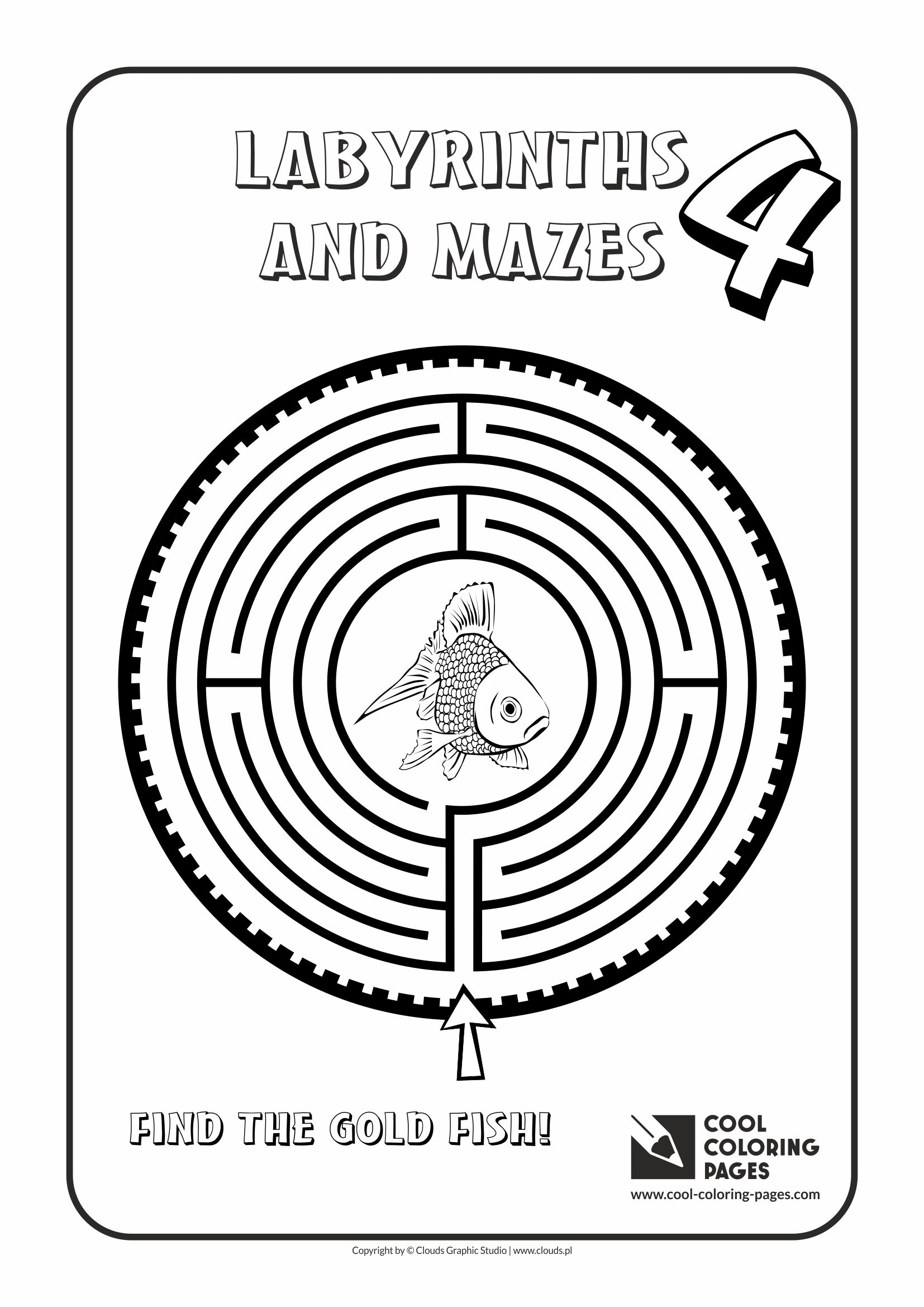 Cool Coloring Pages - Labyrinths and mazes / Maze no 4