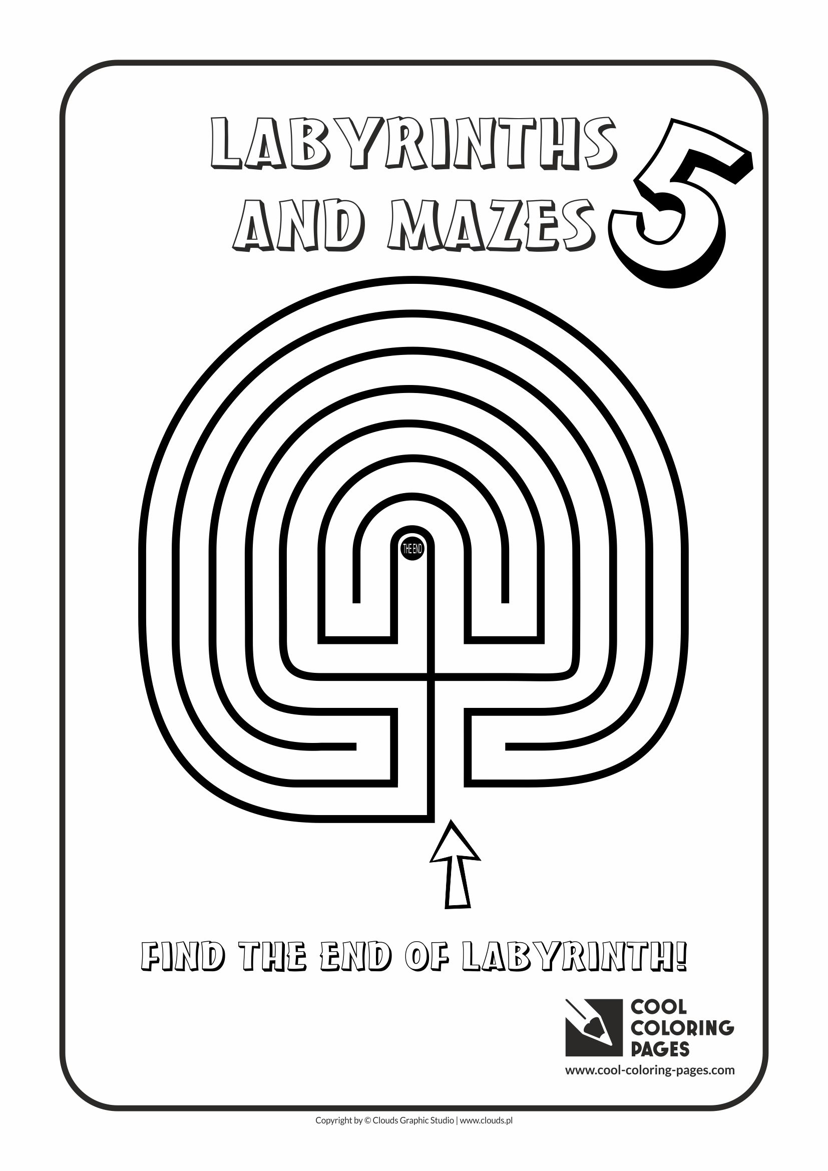 Cool Coloring Pages - Labyrinths and mazes / Maze no 5