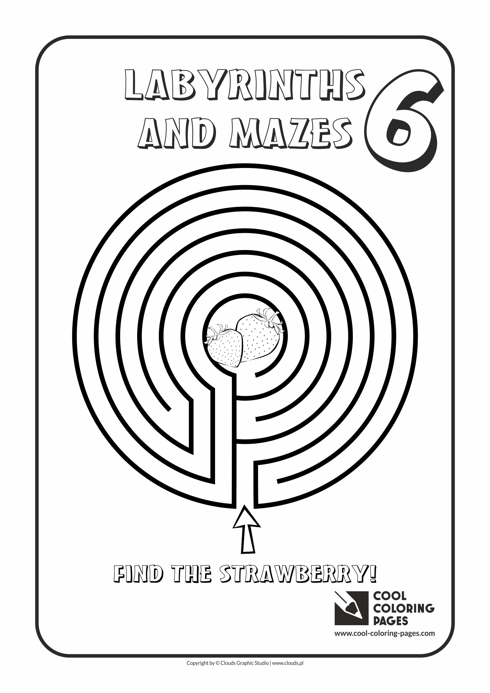 Cool Coloring Pages - Labyrinths and mazes / Maze no 6
