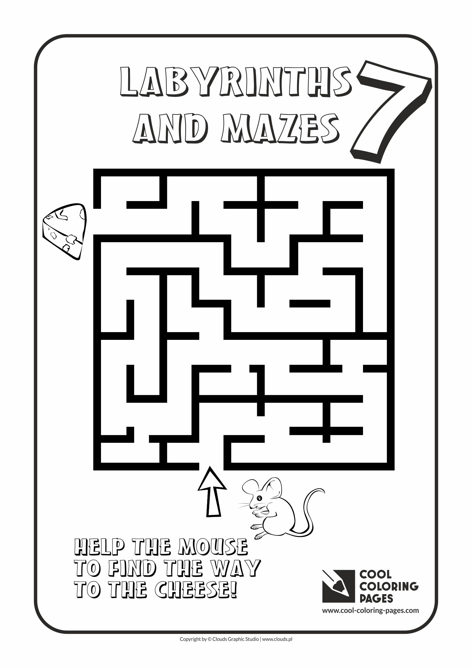 Cool Coloring Pages - Labyrinths and mazes / Maze no 7