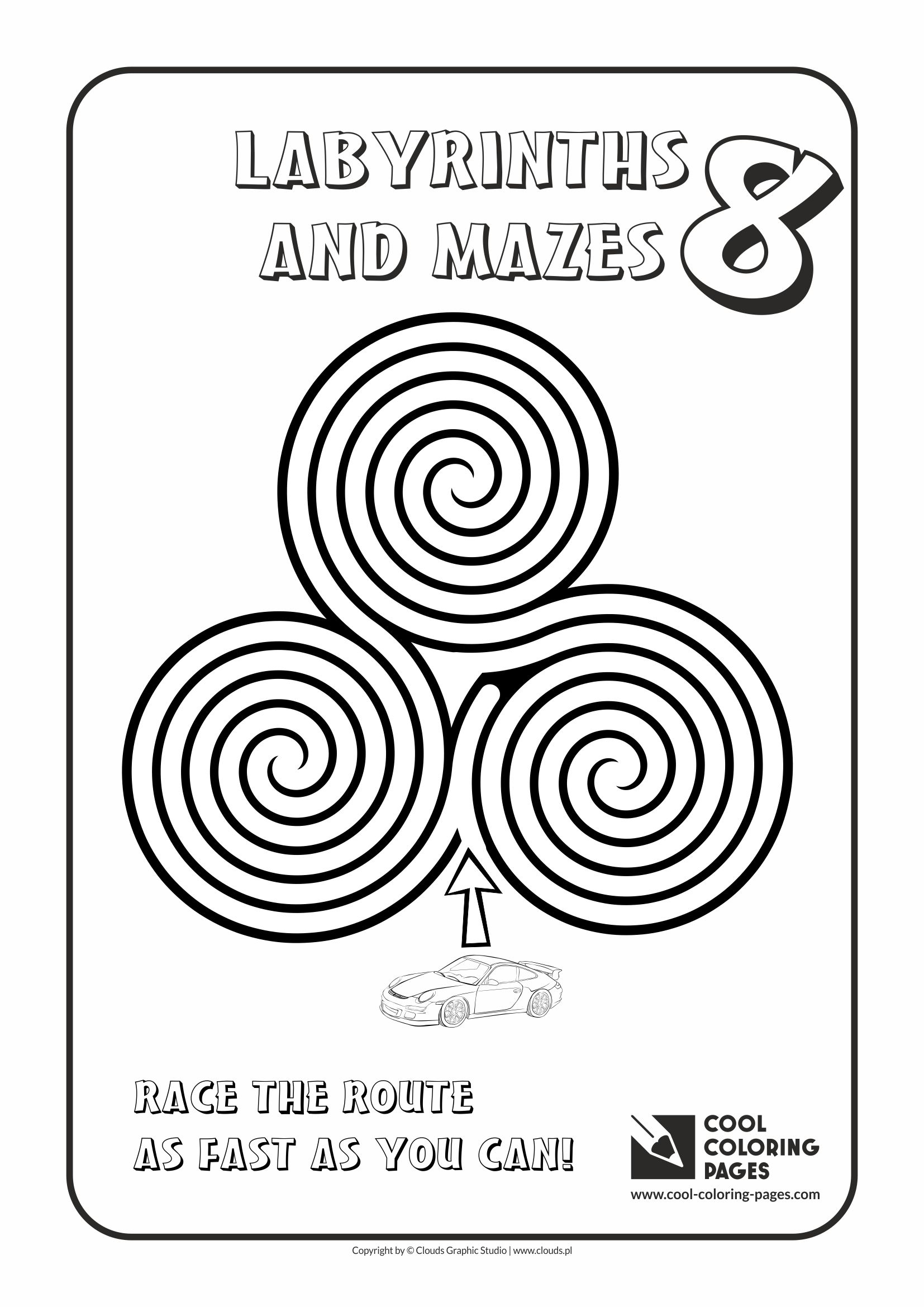 Cool Coloring Pages - Labyrinths and mazes / Maze no 8