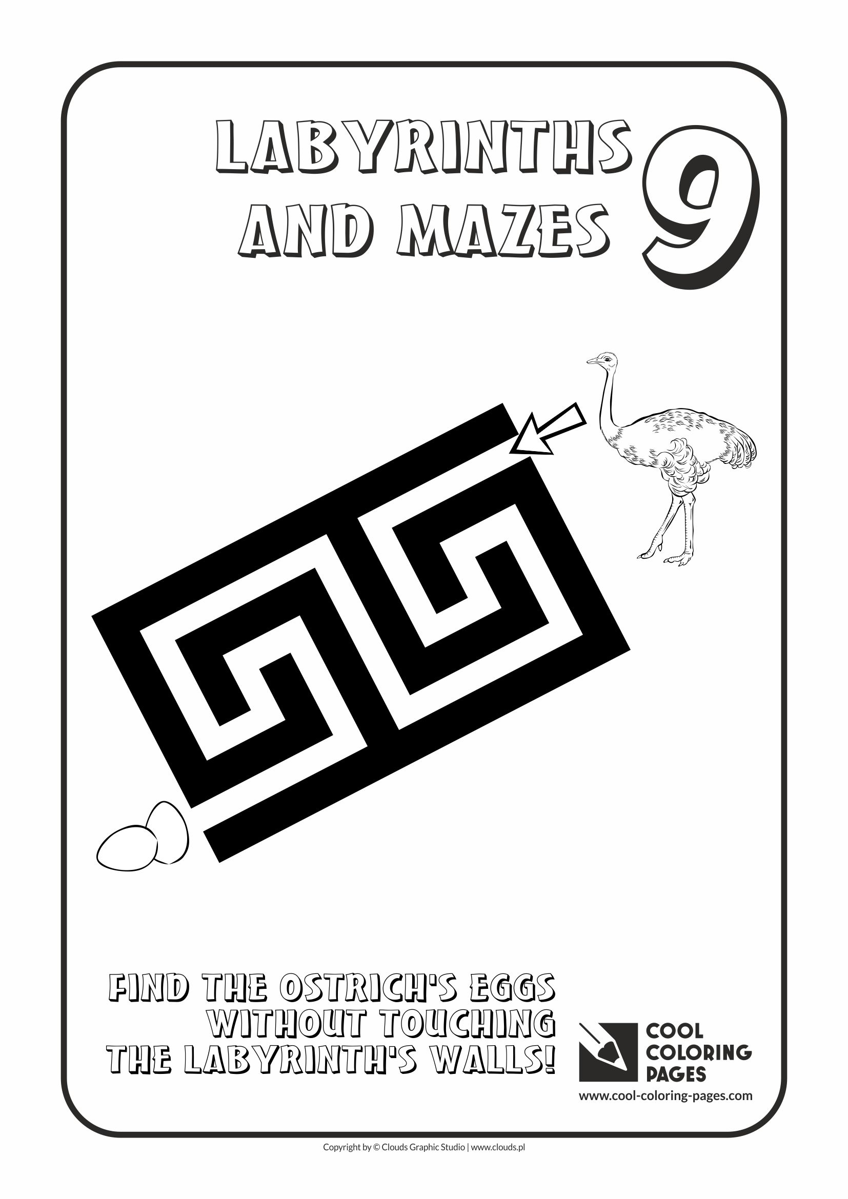 Cool Coloring Pages - Labyrinths and mazes / Maze no 9