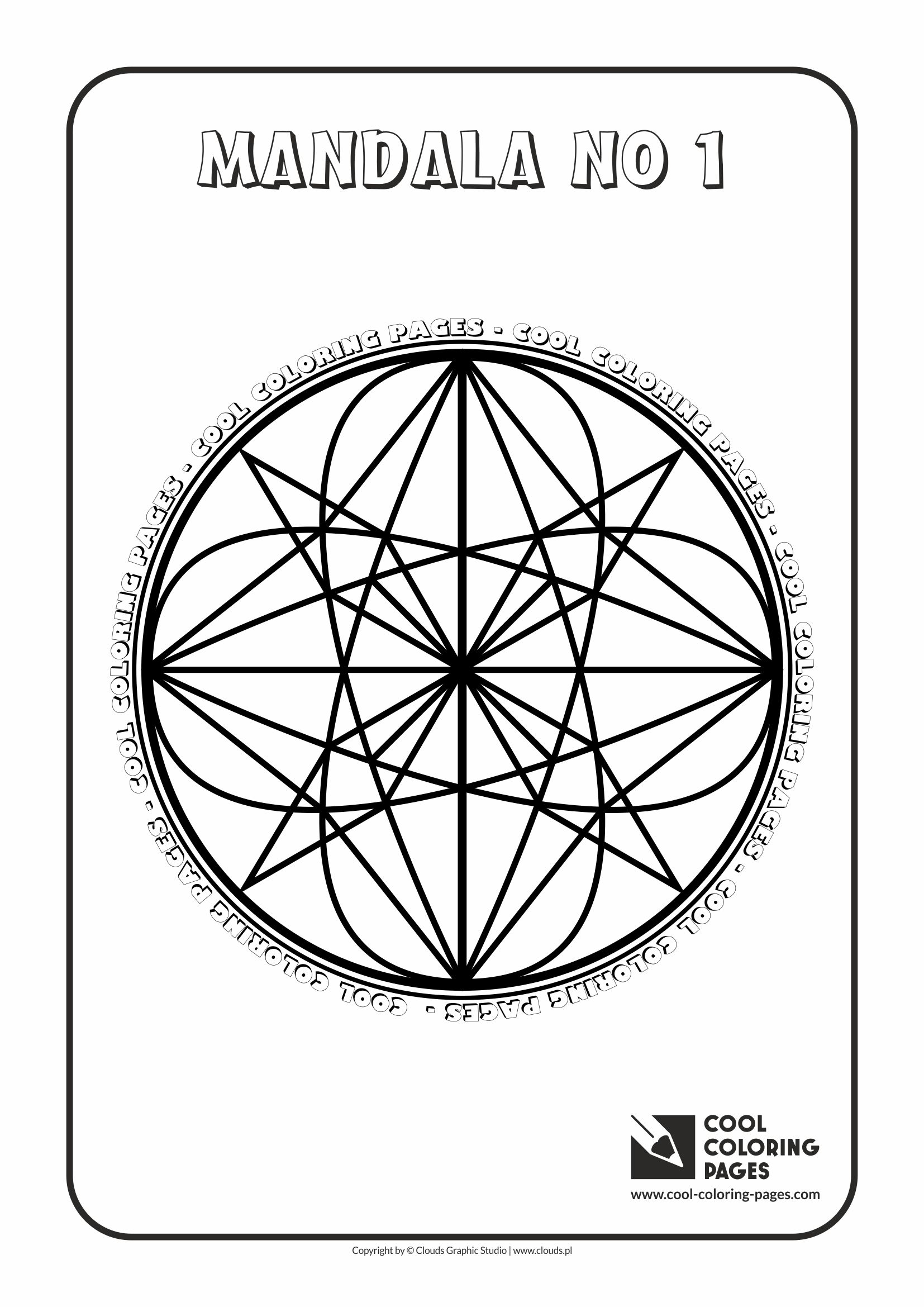 Cool Coloring Pages - Mandalas / Mandala no 1