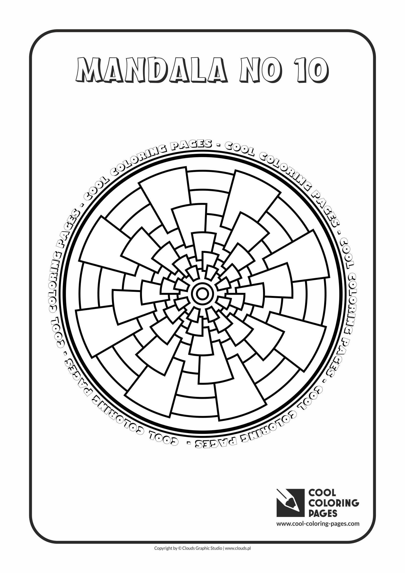 Cool Coloring Pages - Mandalas / Mandala no 10