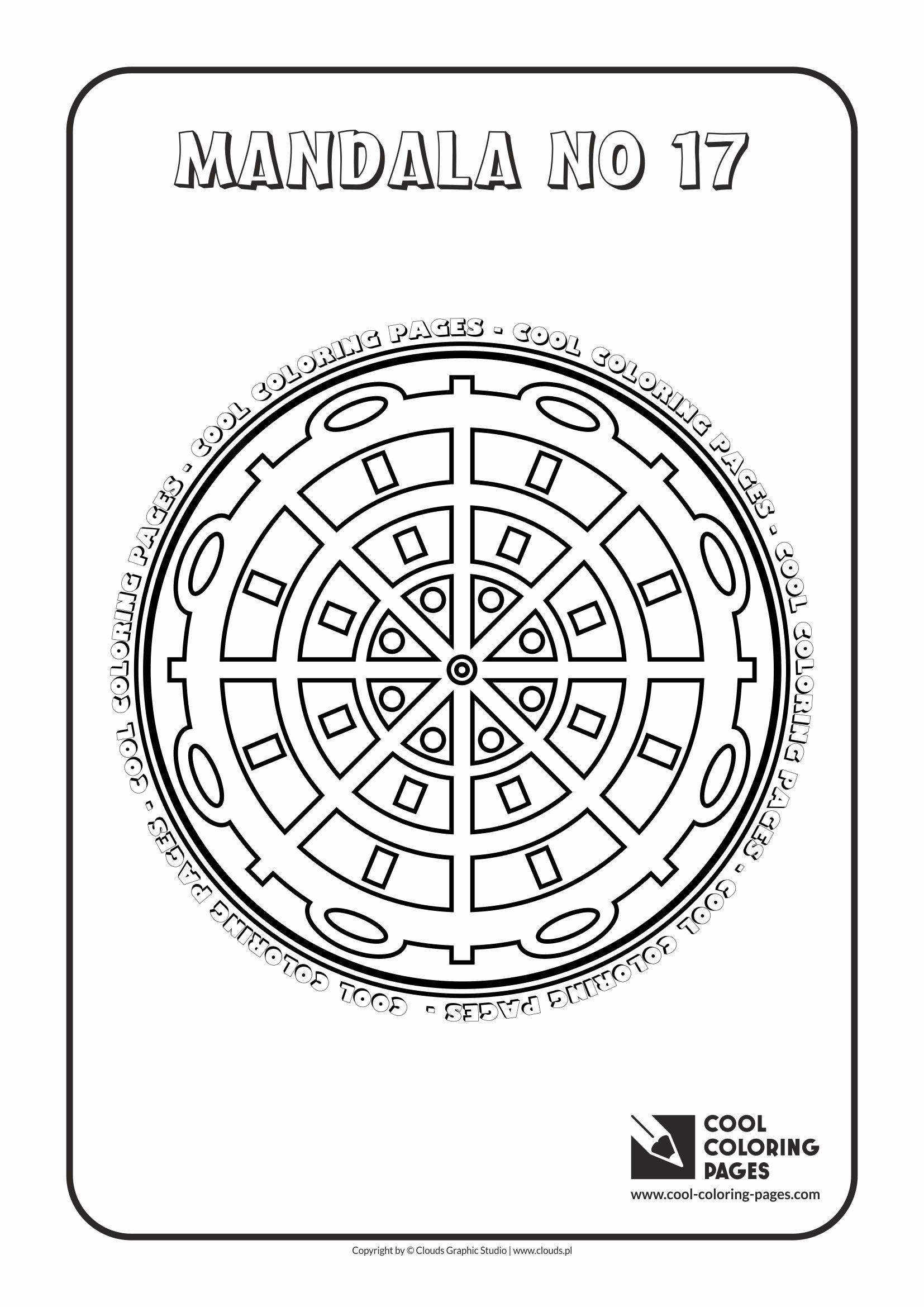Cool Coloring Pages - Mandalas / Mandala no 17