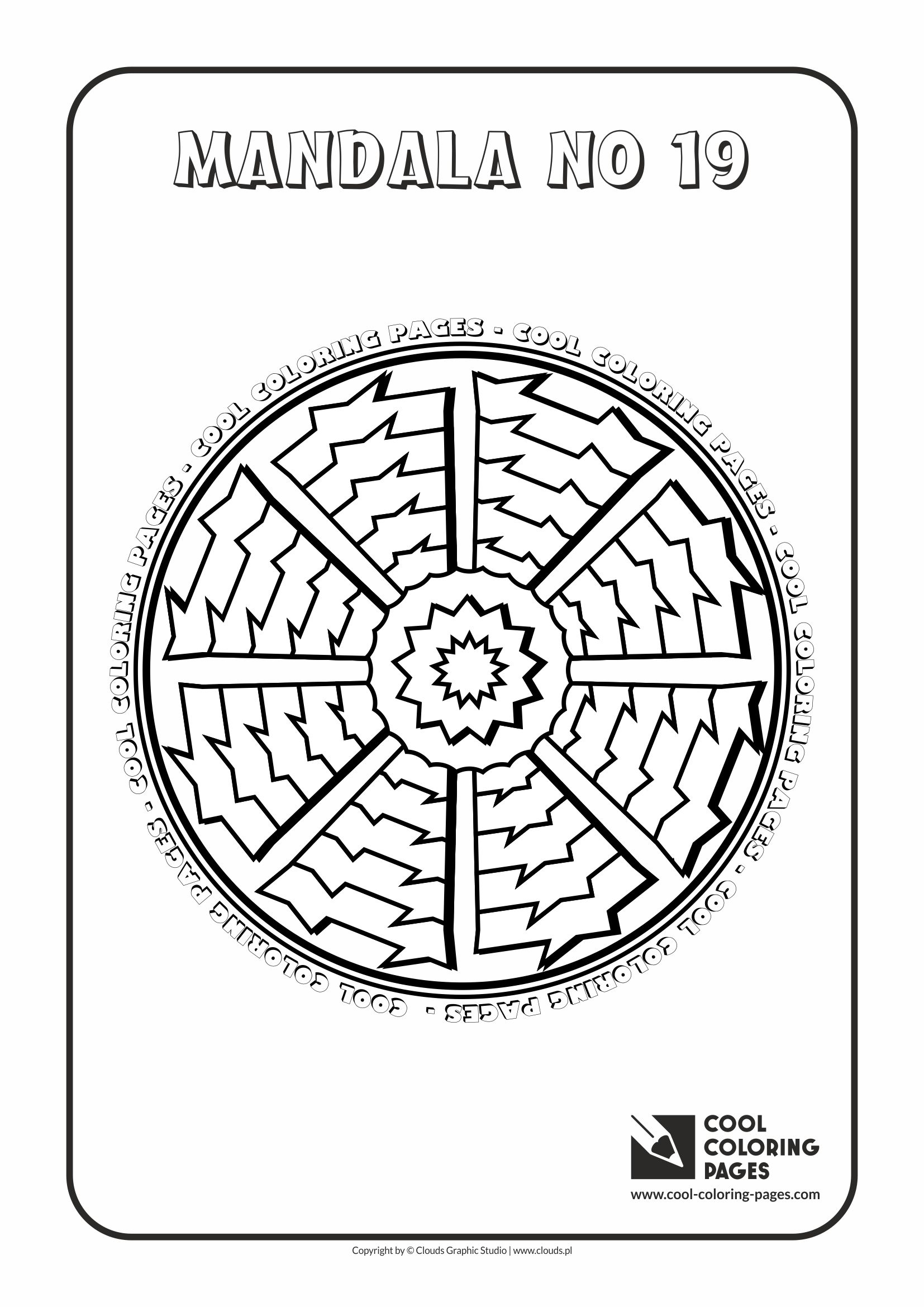 Cool Coloring Pages - Mandalas / Mandala no 19