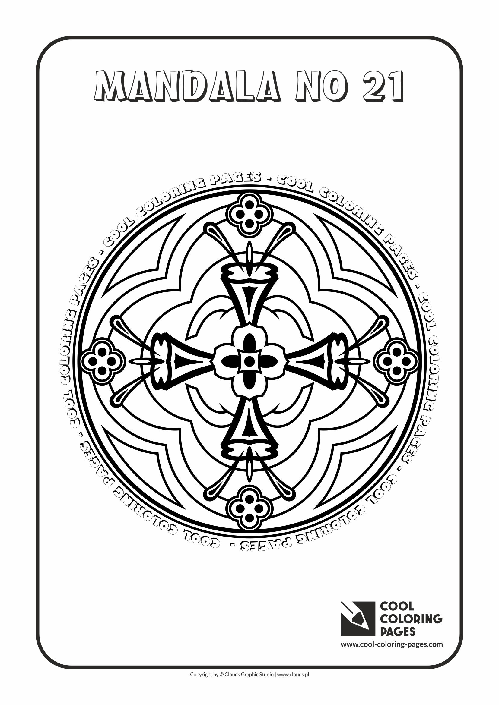Cool Coloring Pages Mandalas