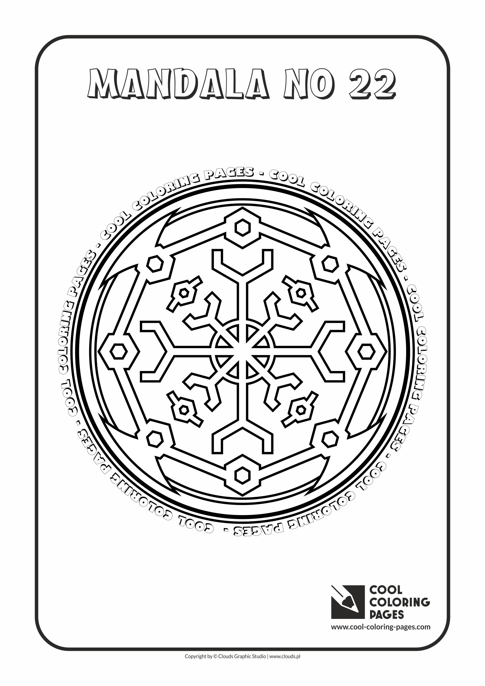 Cool Coloring Pages - Mandalas / Mandala no 22