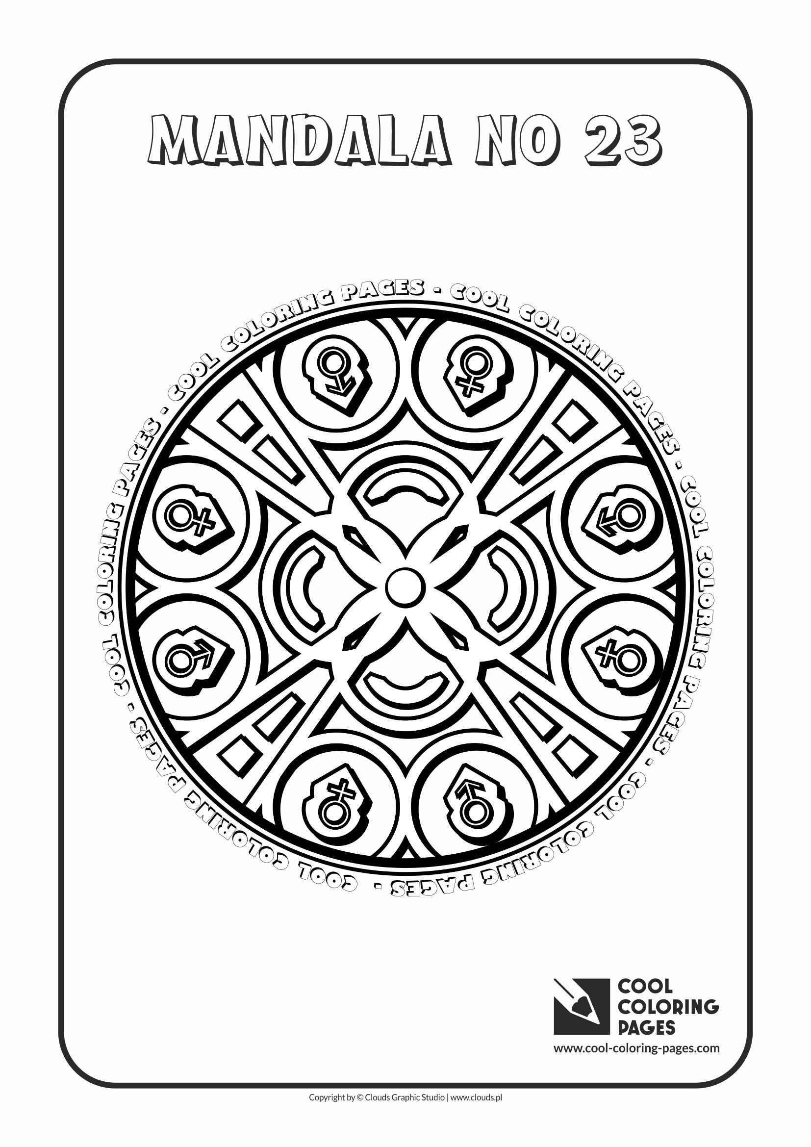 Cool Coloring Pages - Mandalas / Mandala no 23