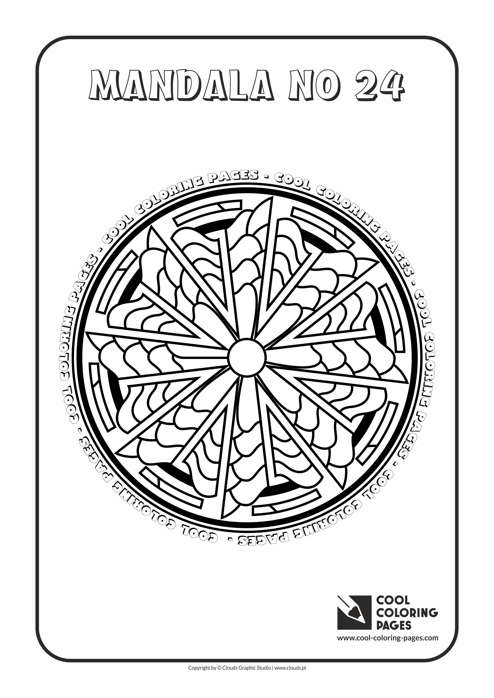 Cool Coloring Pages - Mandalas / Mandala no 24