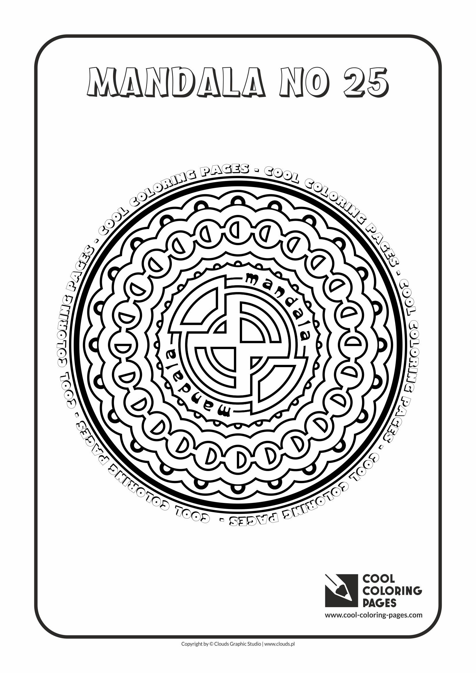 Cool Coloring Pages - Mandalas / Mandala no 25