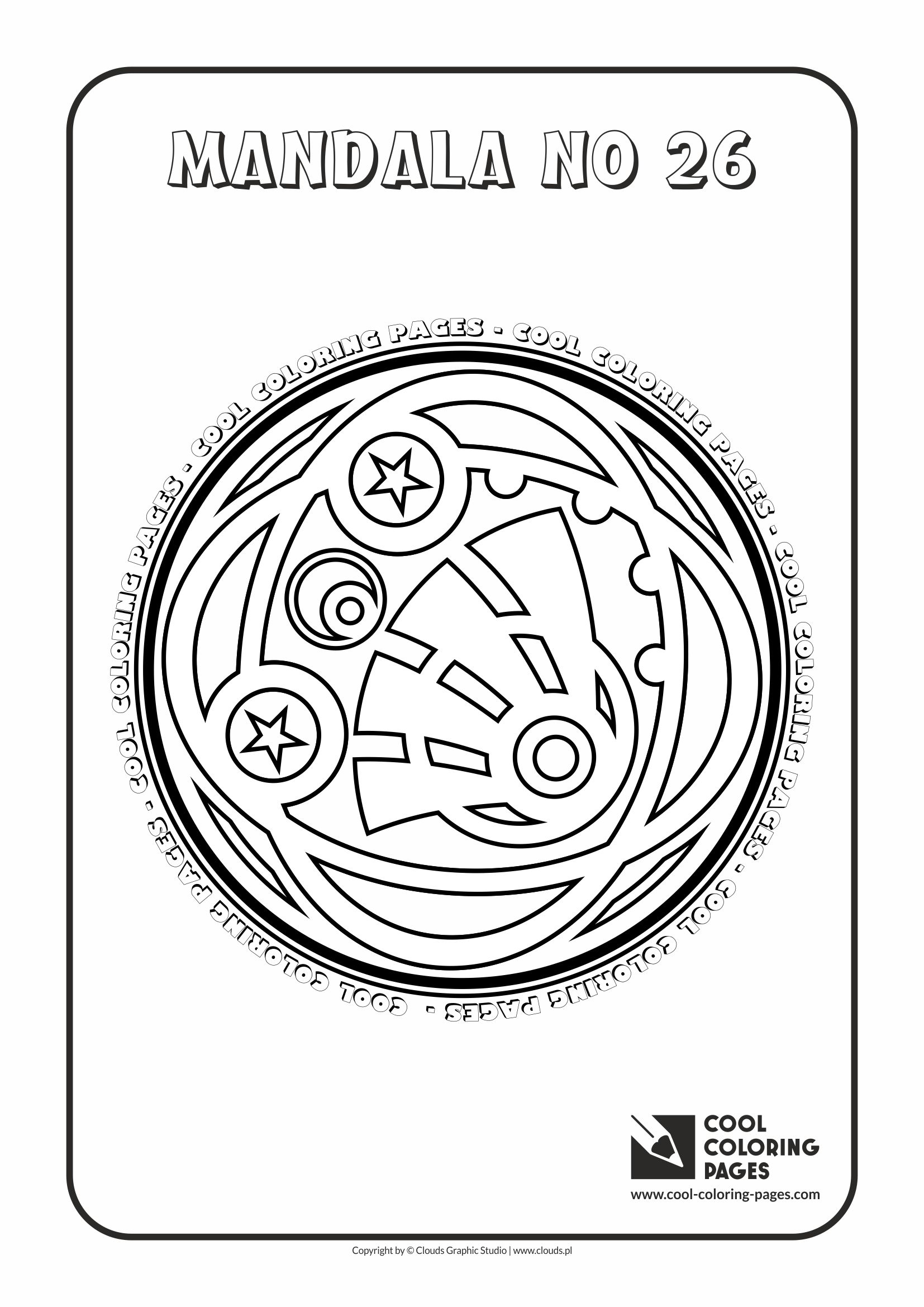 Cool Coloring Pages - Mandalas / Mandala no 26