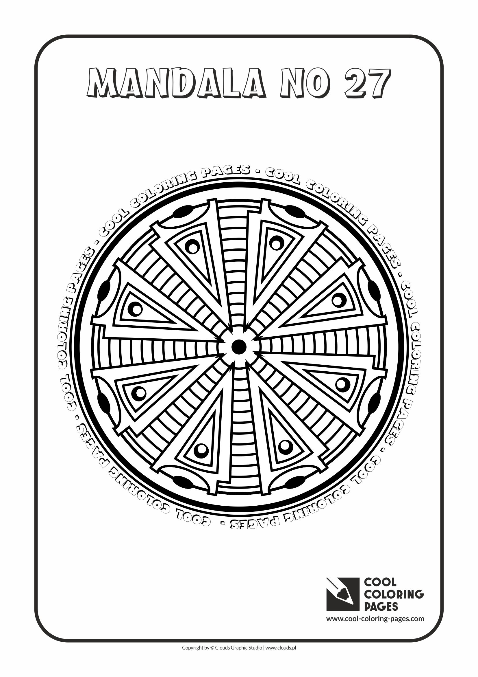 Cool Coloring Pages - Mandalas / Mandala no 27
