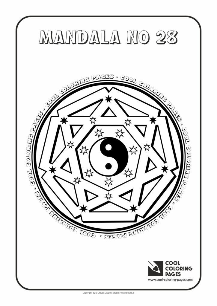 Cool Coloring Pages Mandala No 28 Cool Coloring Pages