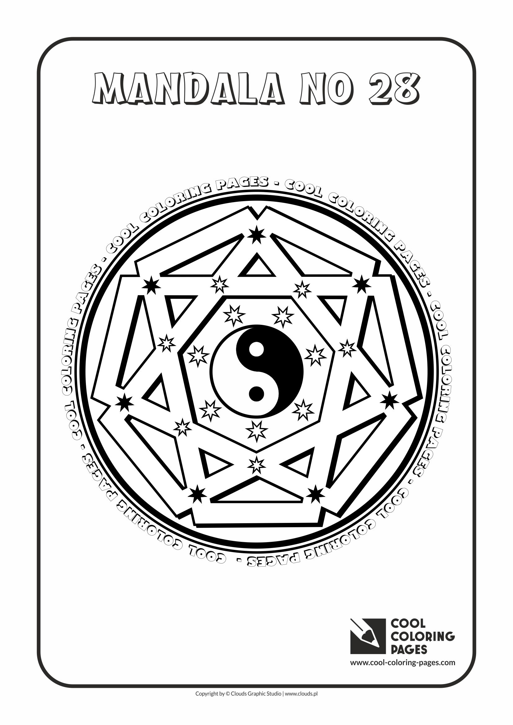 Cool Coloring Pages - Mandalas / Mandala no 28