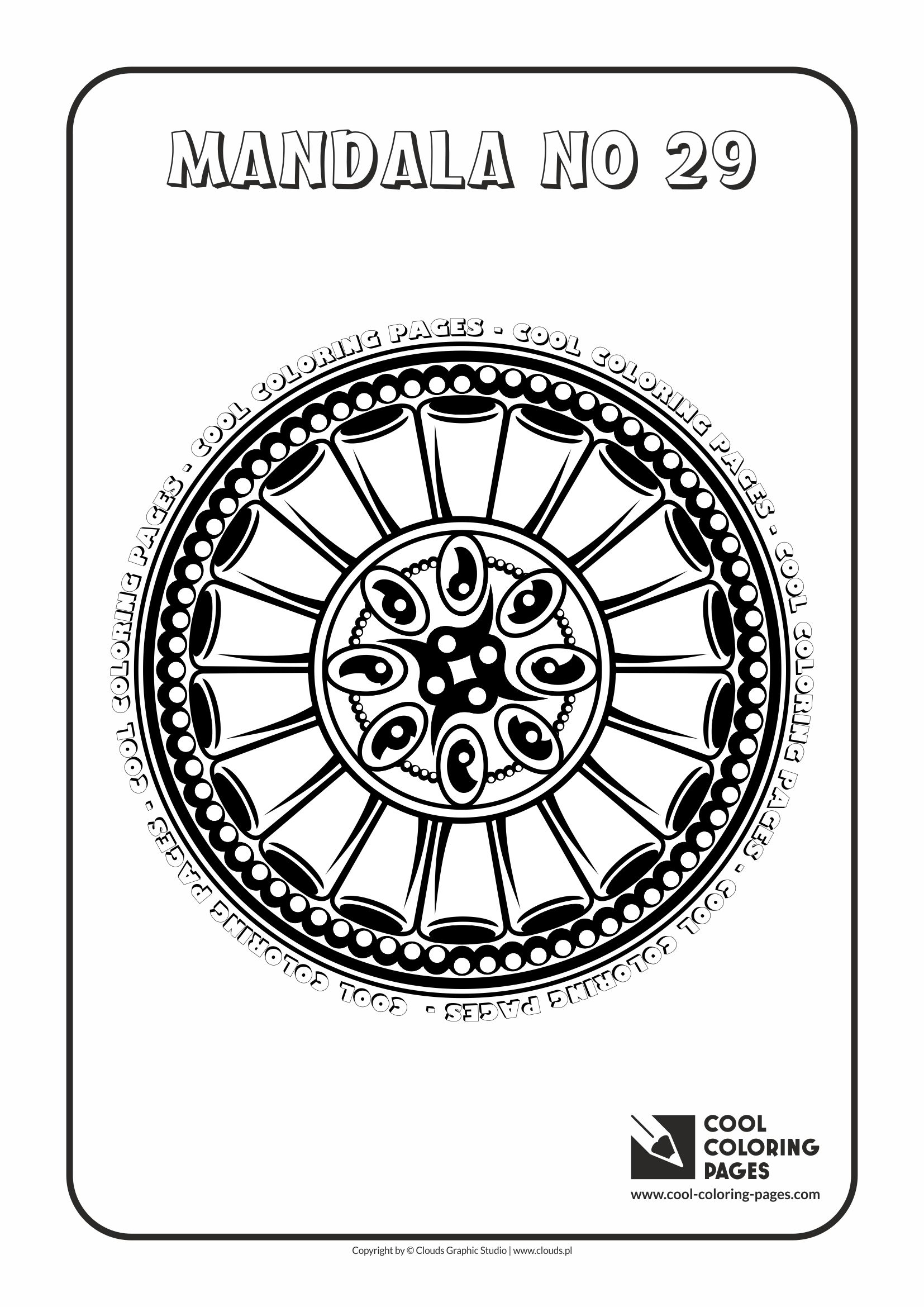 Cool Coloring Pages - Mandalas / Mandala no 29