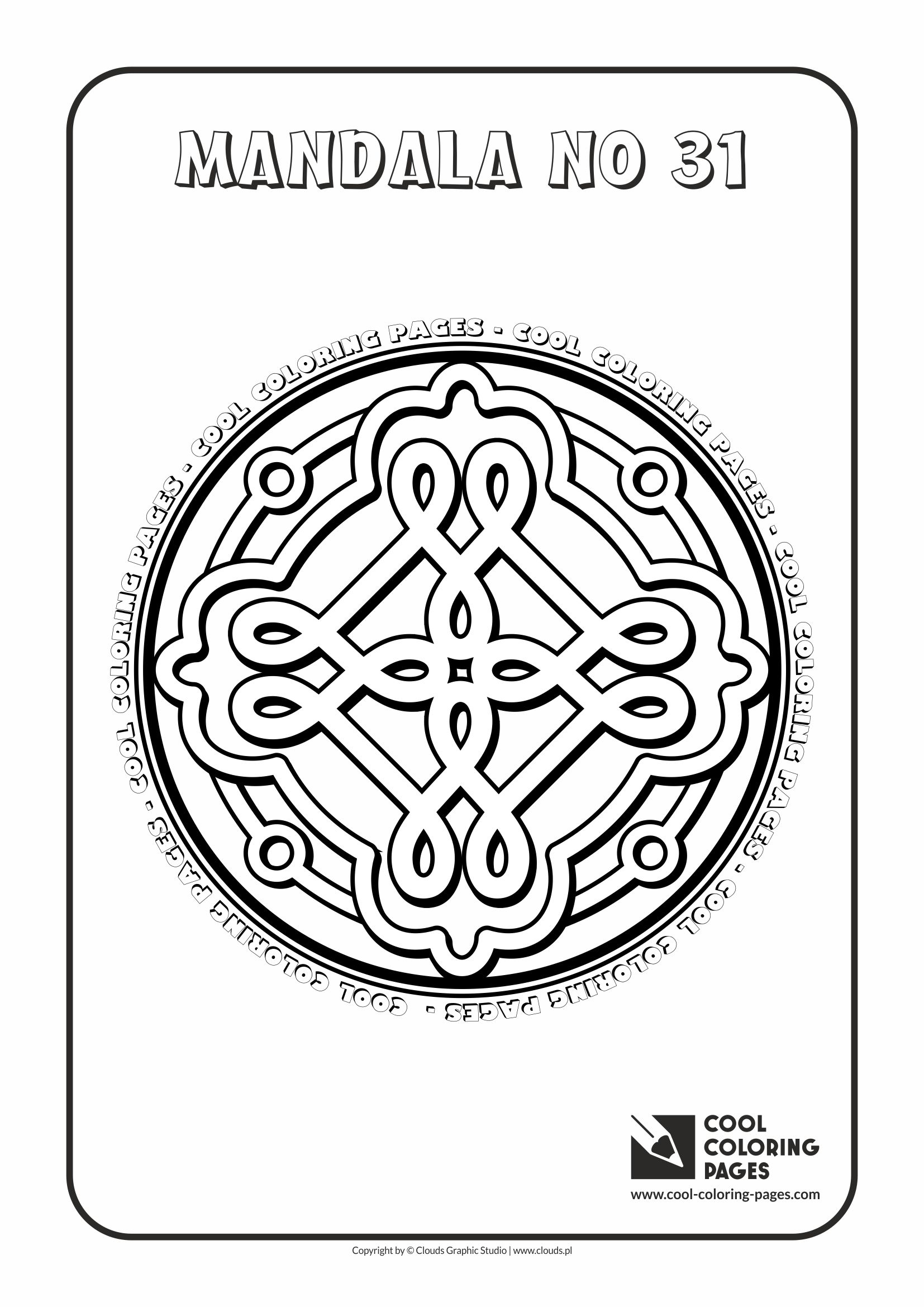 Cool Coloring Pages - Mandalas / Mandala no 31
