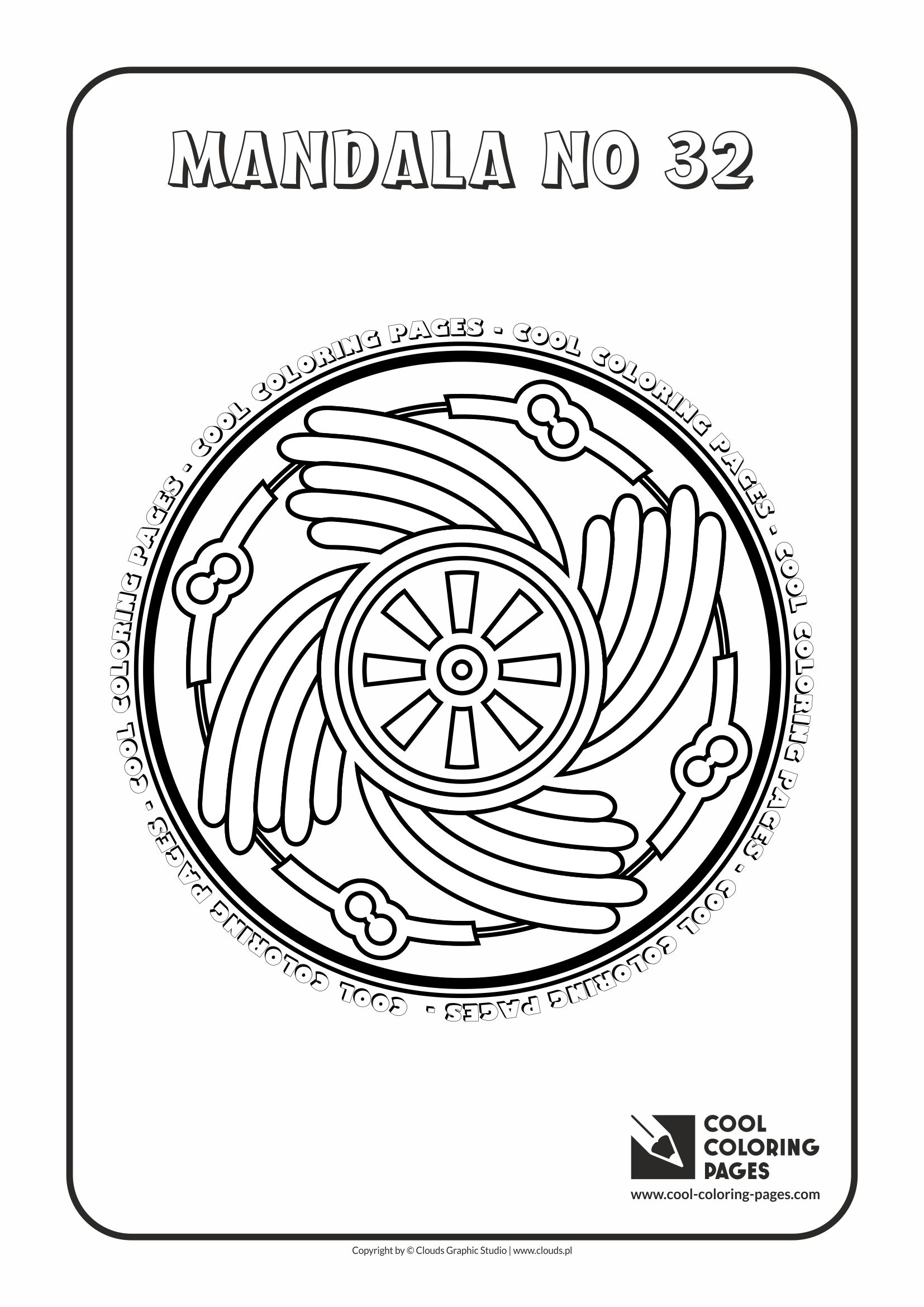 Cool Coloring Pages - Mandalas / Mandala no 32