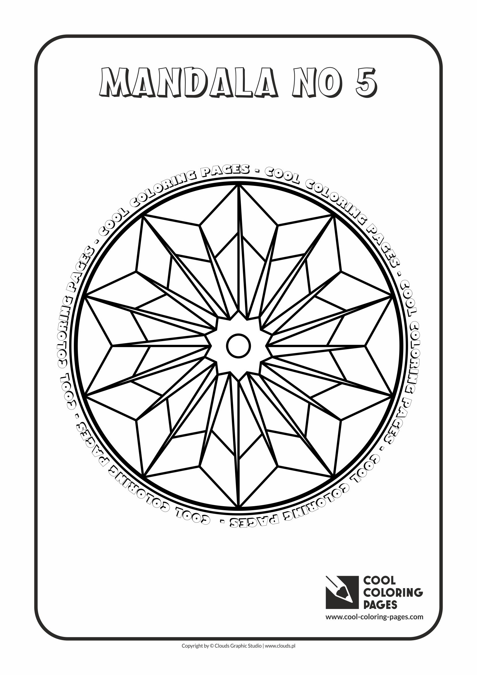 Cool Coloring Pages - Mandalas / Mandala no 5