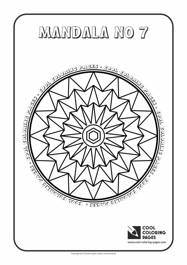 Cool Coloring Pages Mandala No 7 - Cool Coloring Pages Free