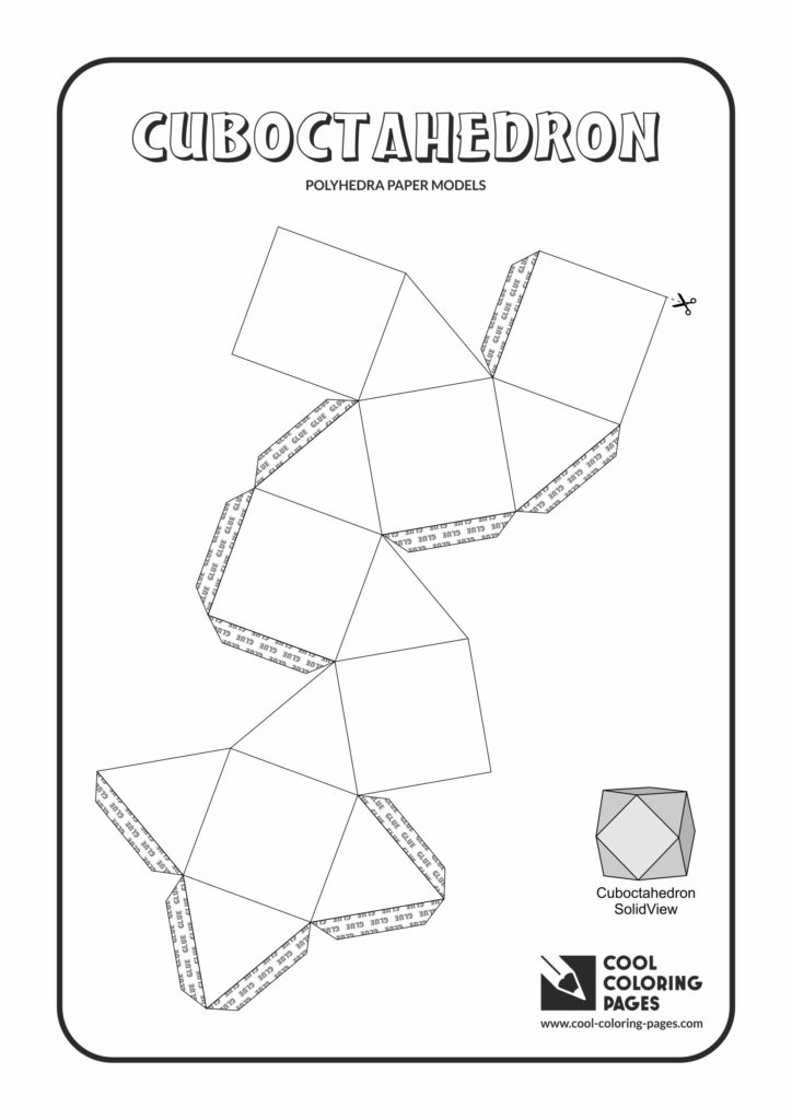 Cool Coloring Pages Cuboctahedron