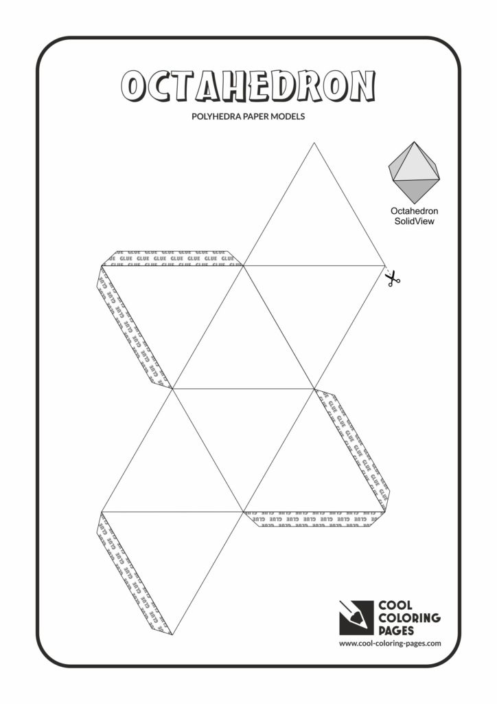 Cool Coloring Pages Octahedron Paper solids models