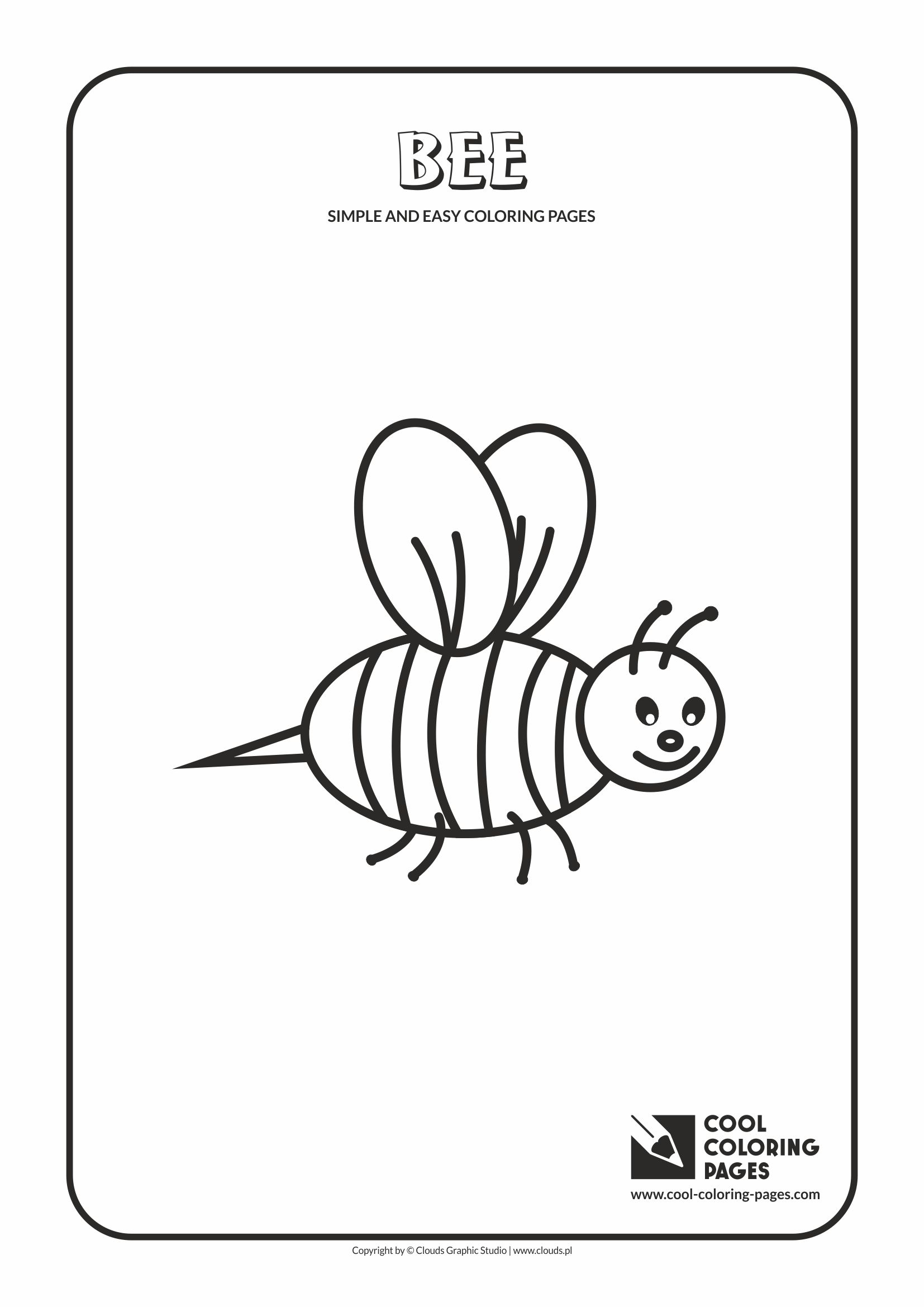 Simple and easy coloring pages for toddlers - Bee